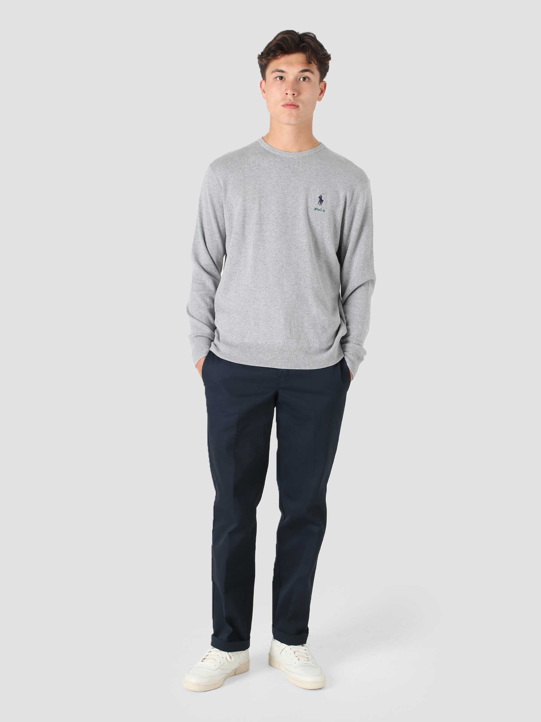 Cotton Long Sleeve Pullover Andover Heather 710850117004