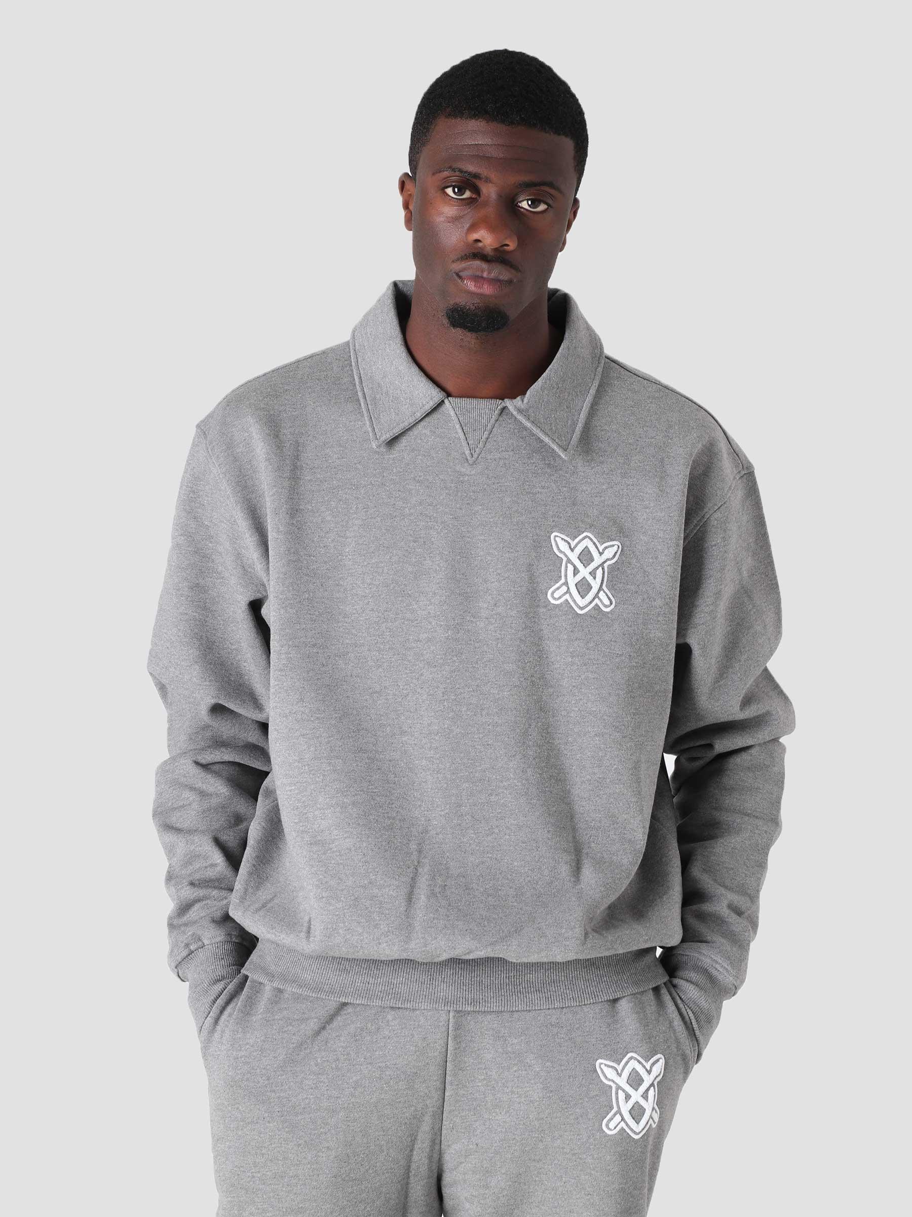 Hobased Sweater Grey Melange 2123011