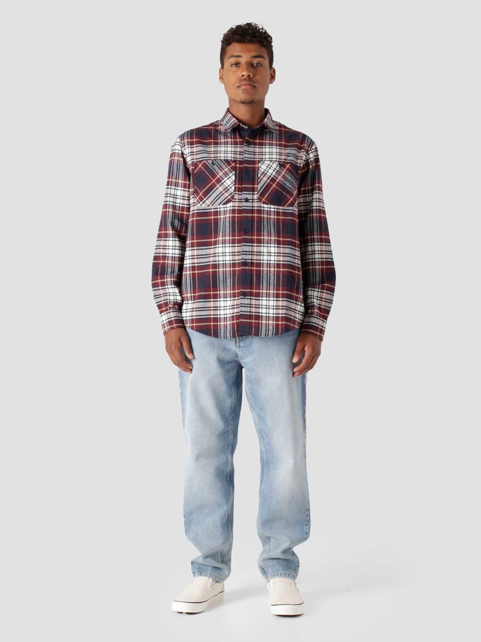 Longsleeve Dunbar Shirt Dunbar Check Wine I029474