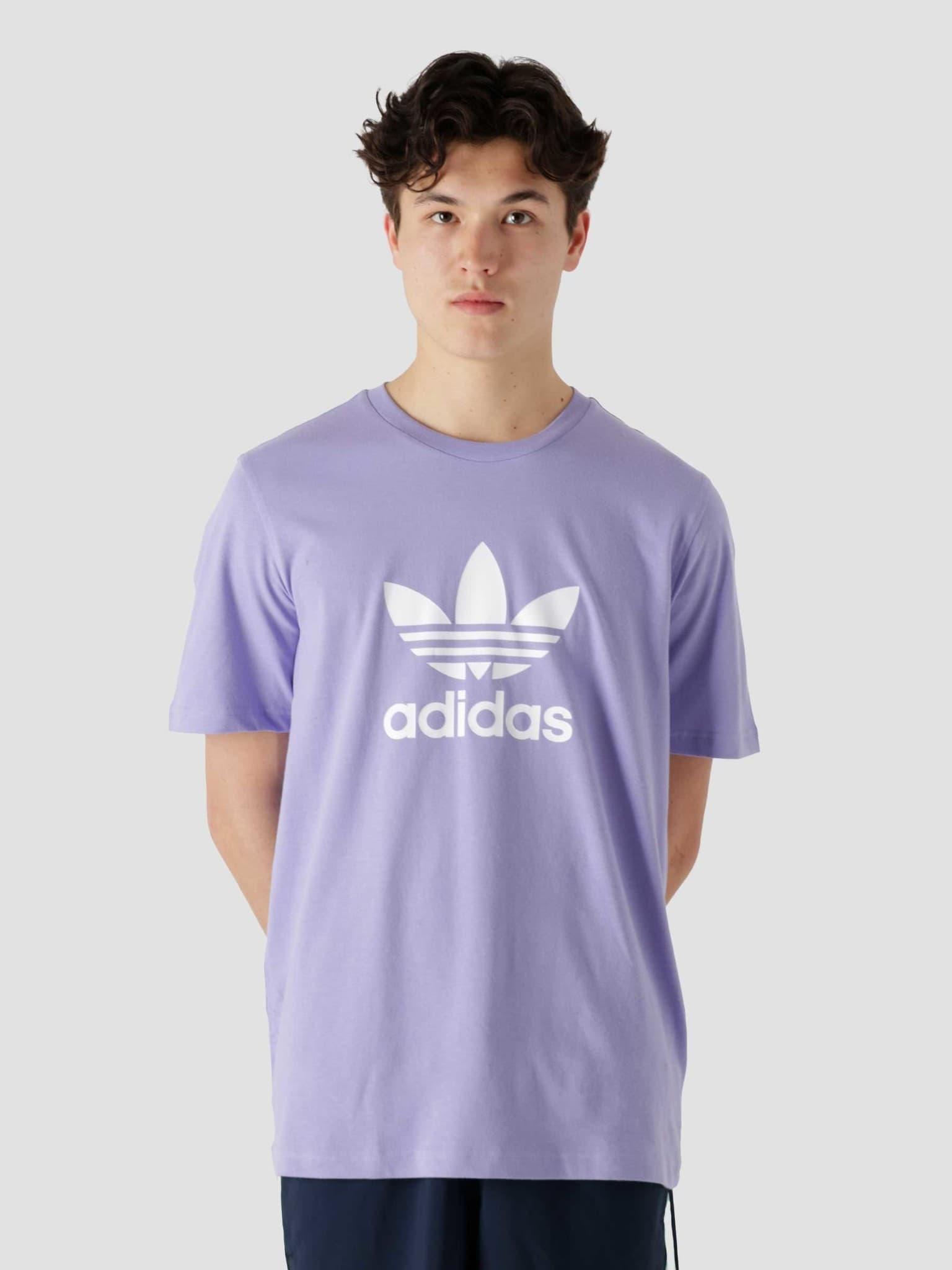 Trefoil T-Shirt Light Purple White GN3481