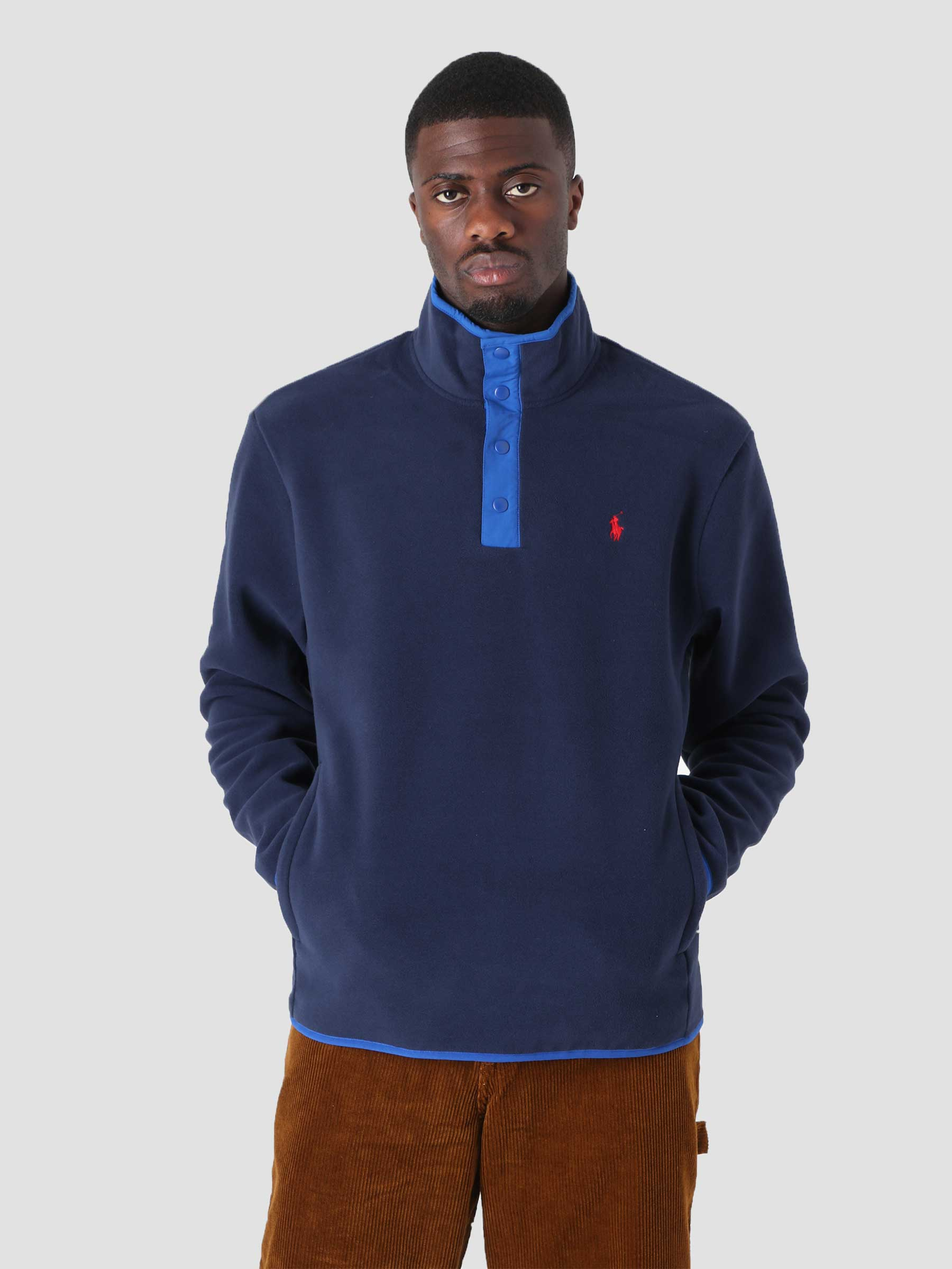 Recycled Poly Fleece Pullover Cruise Navy 710850393002