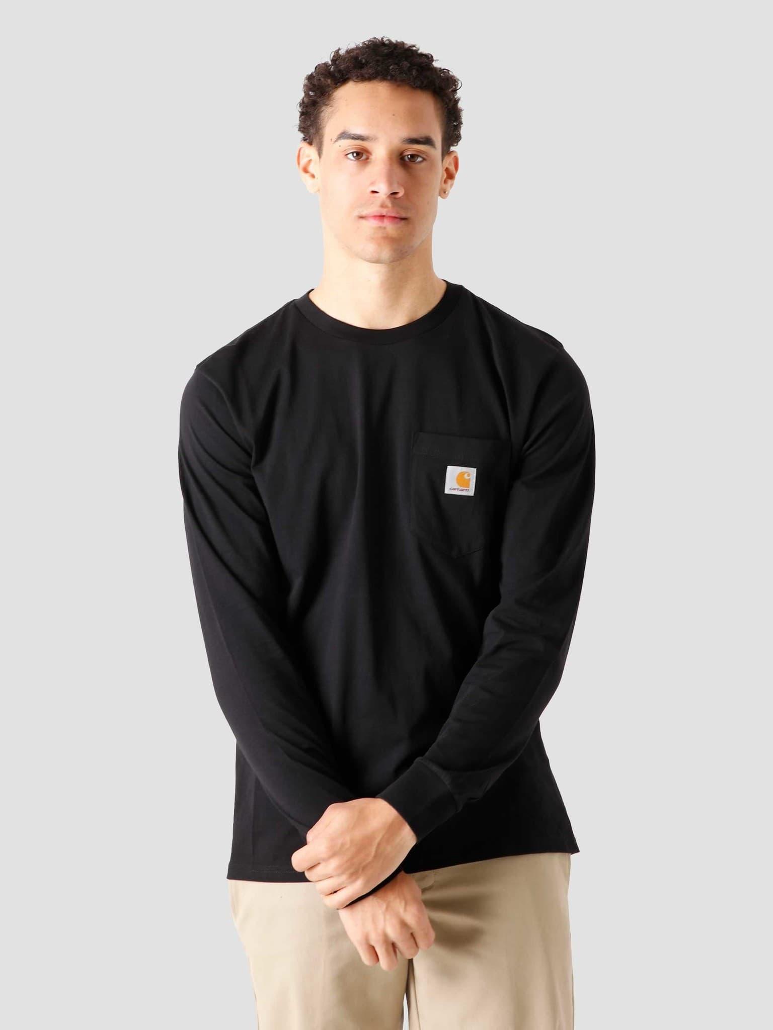 Pocket Longsleeve Black I022094 8900