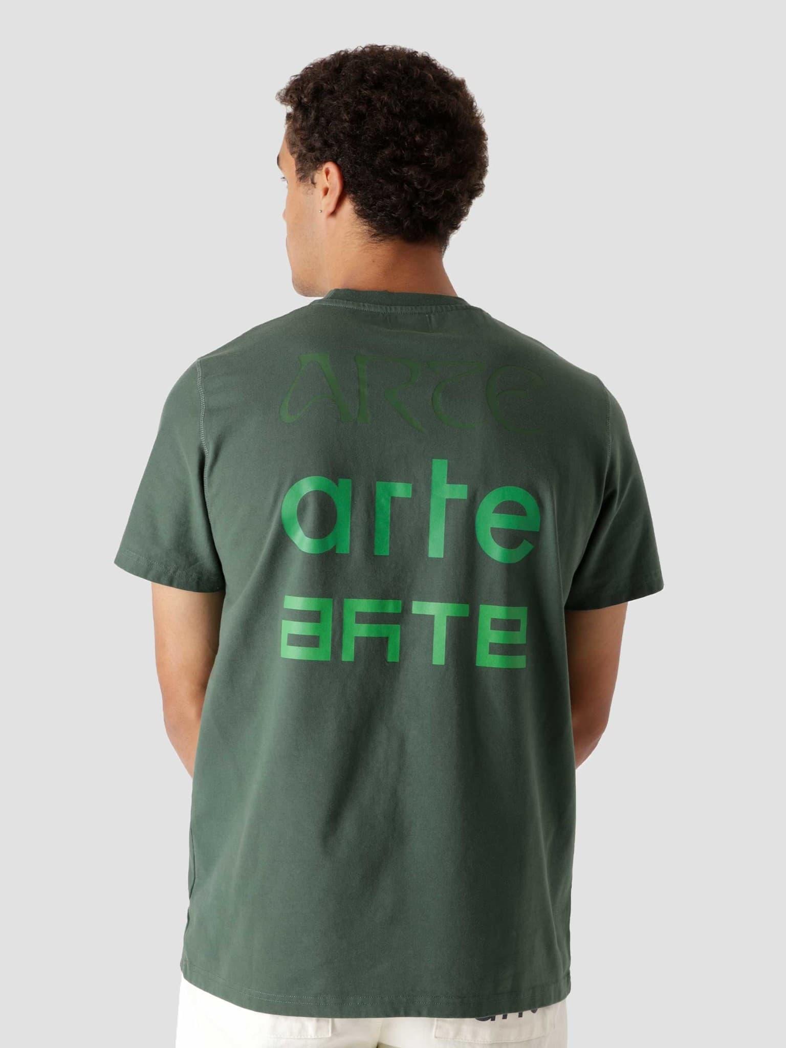 Tissot Back Multi Logo T-Shirt Green AW21-073T2