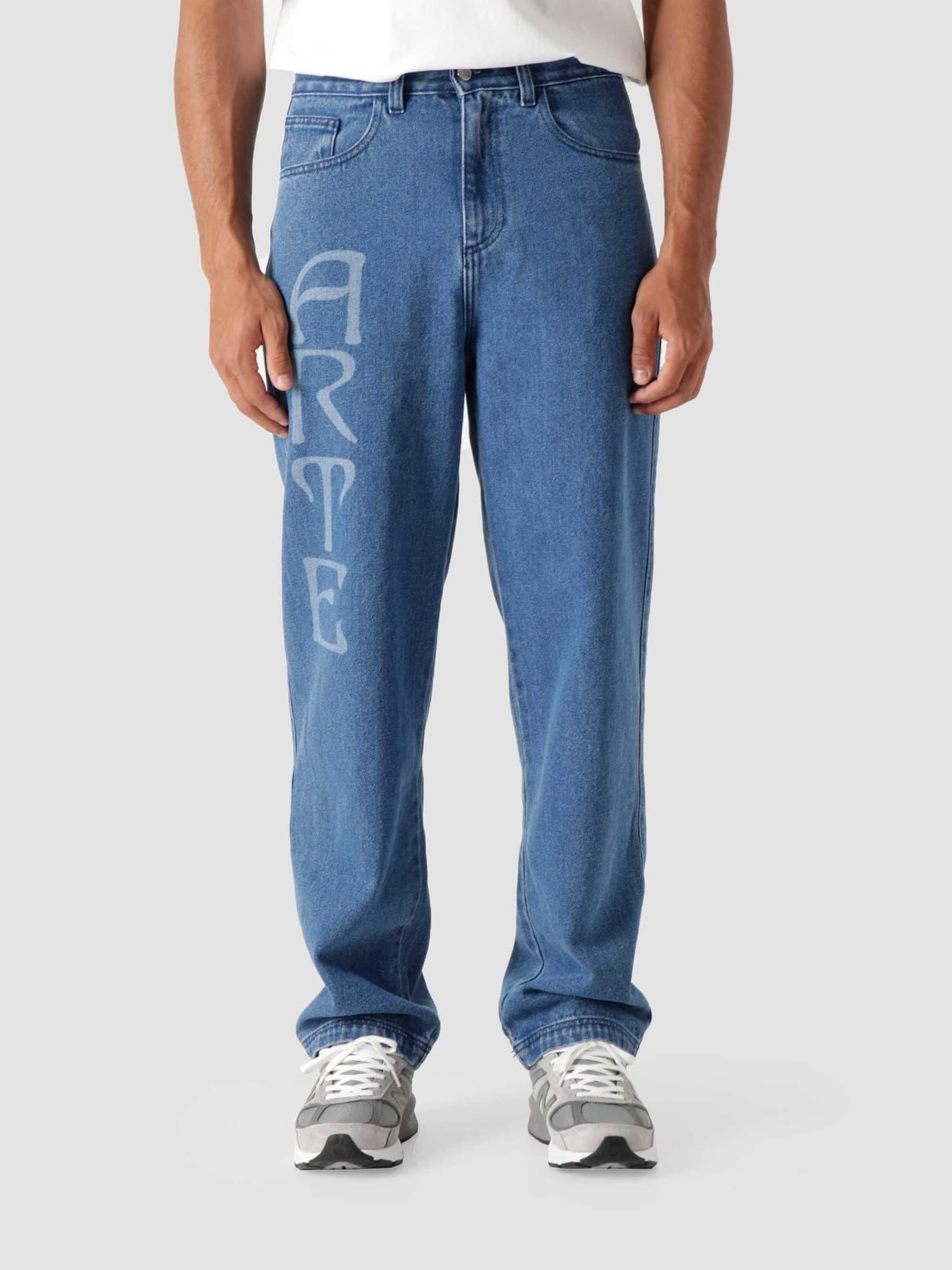 Paul Front Logo Pants Light Blue Denim AW21-002P