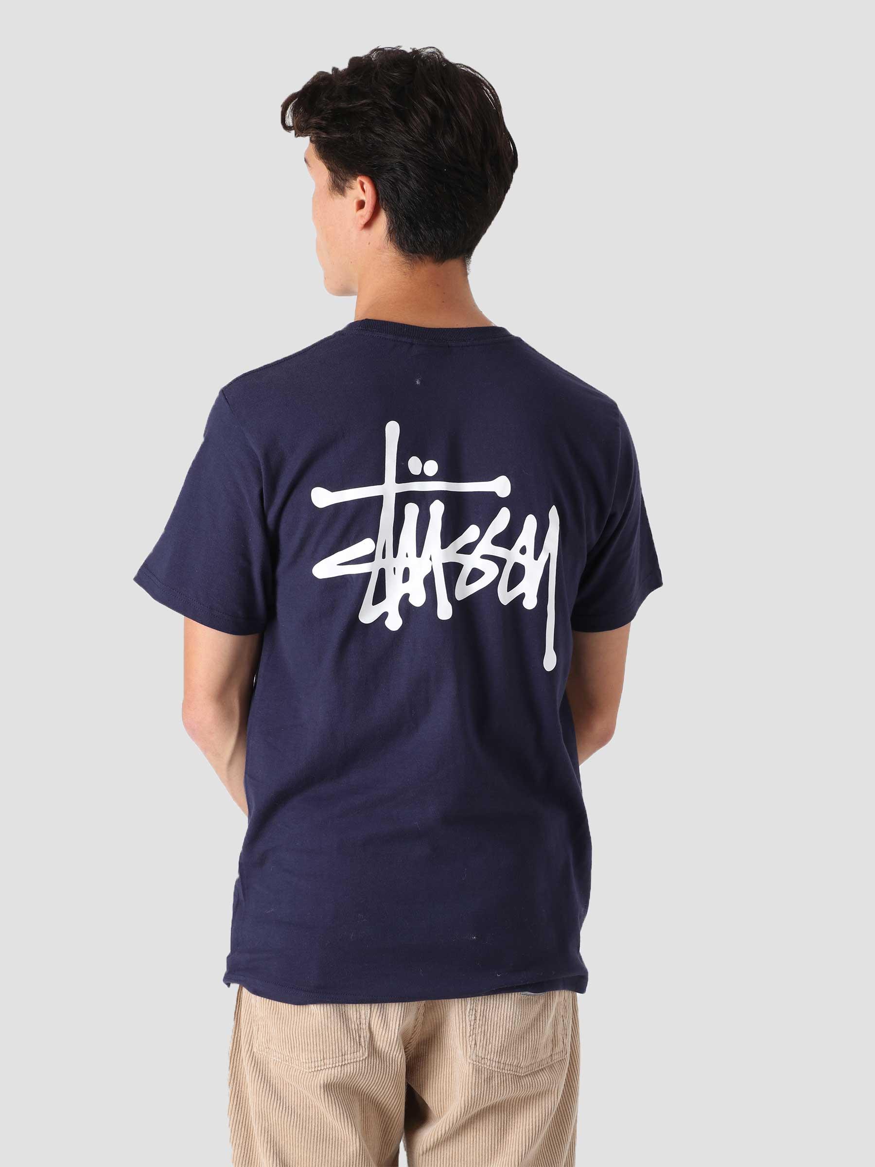 Basic Stussy T-Shirt Navy 1904649-0806