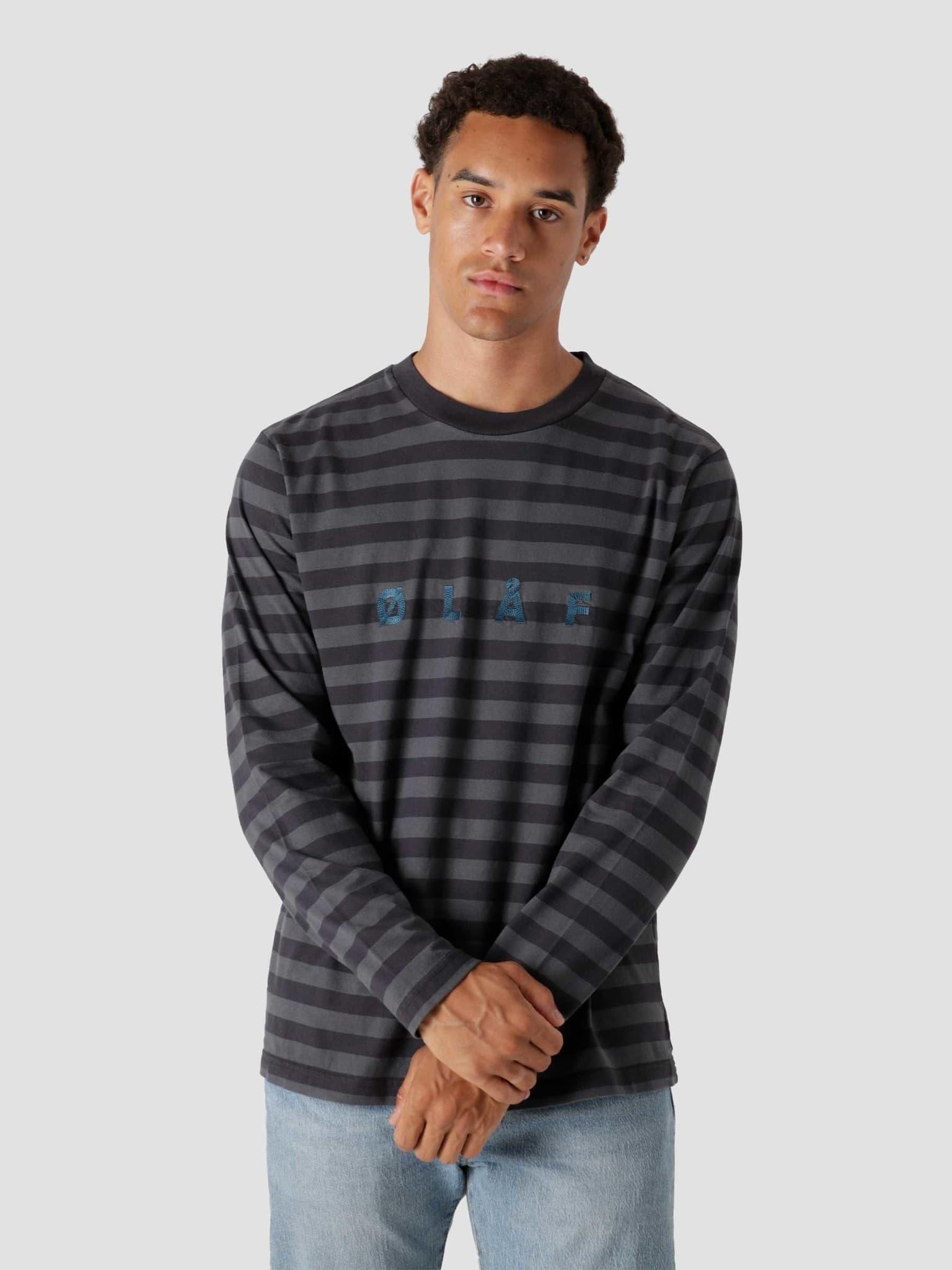 OLAF Stripe Longsleeve Medium Grey Dark Grey