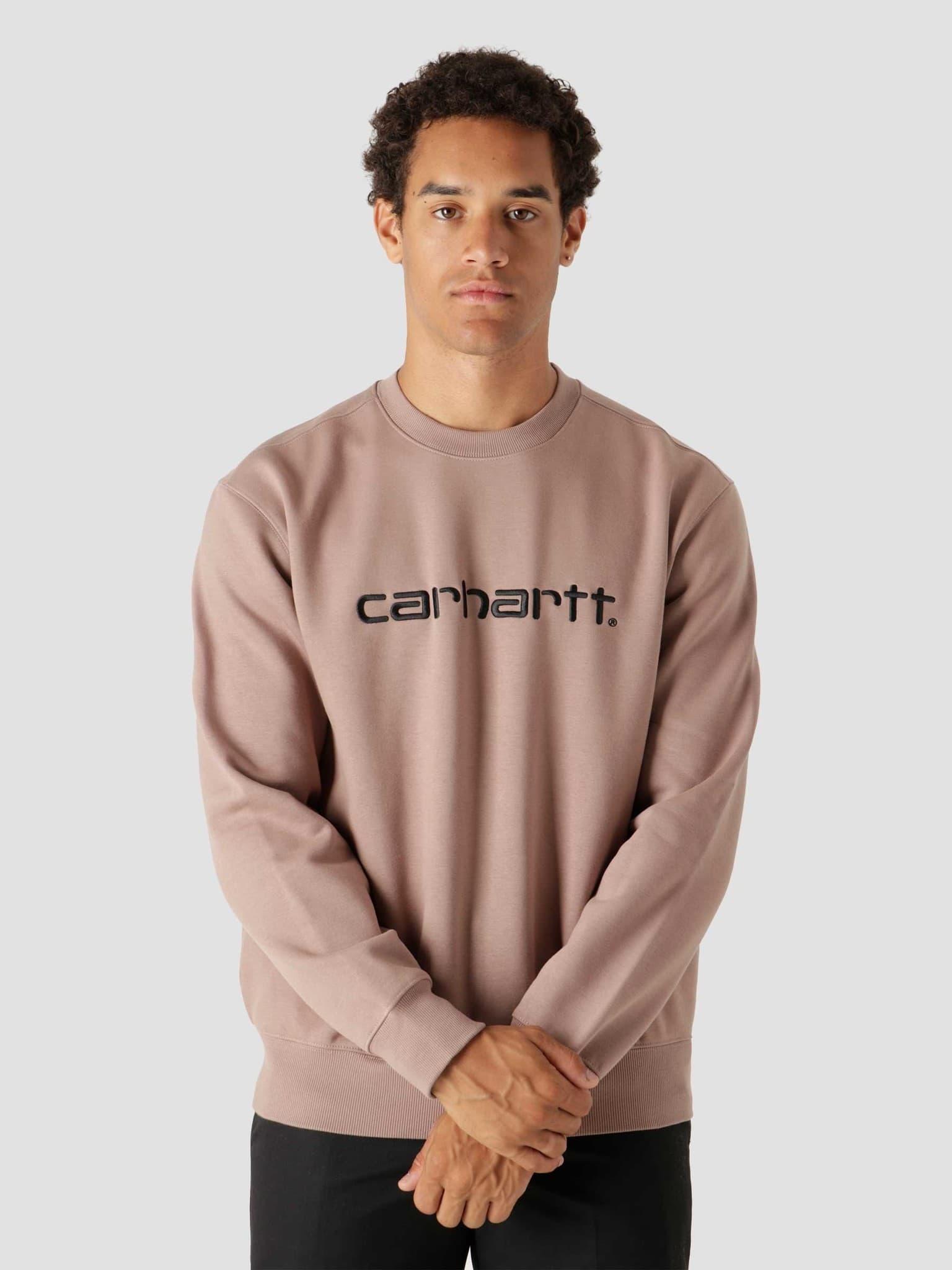 Carhartt Sweat Earthy Pink Black I030229
