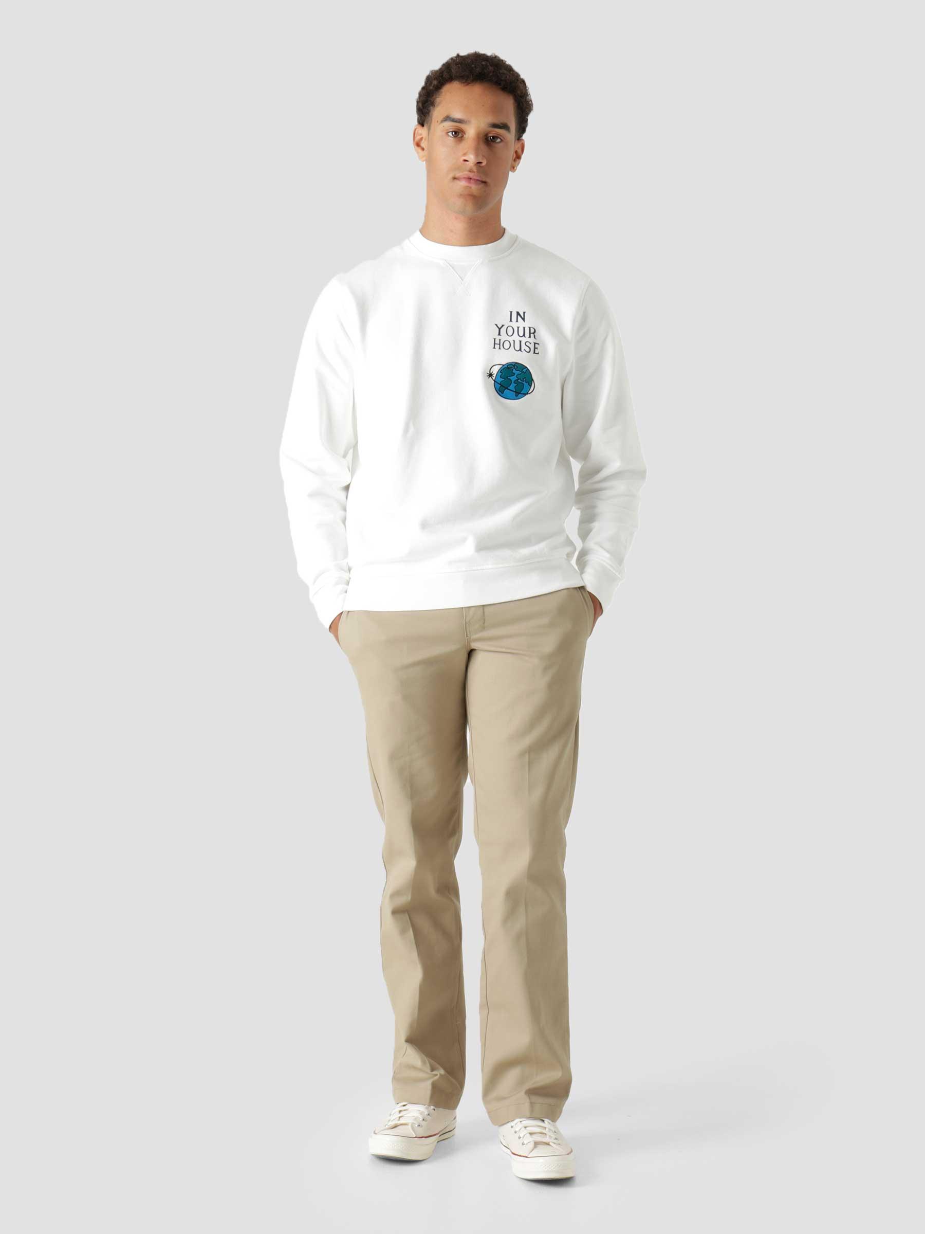 Systems Logo Crew Neck Sweatshirt White 46225