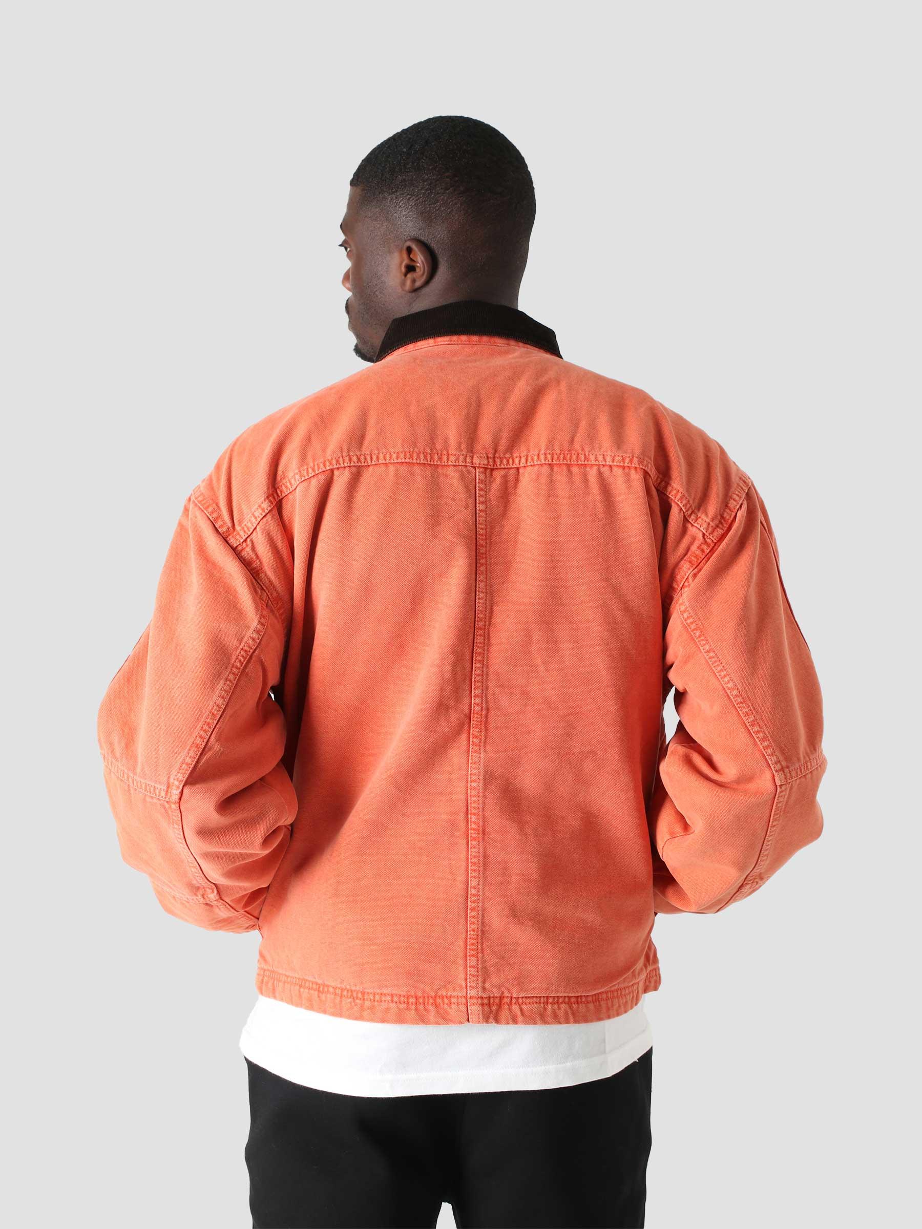 Washed Canvas Shop Jacket Orange 115589