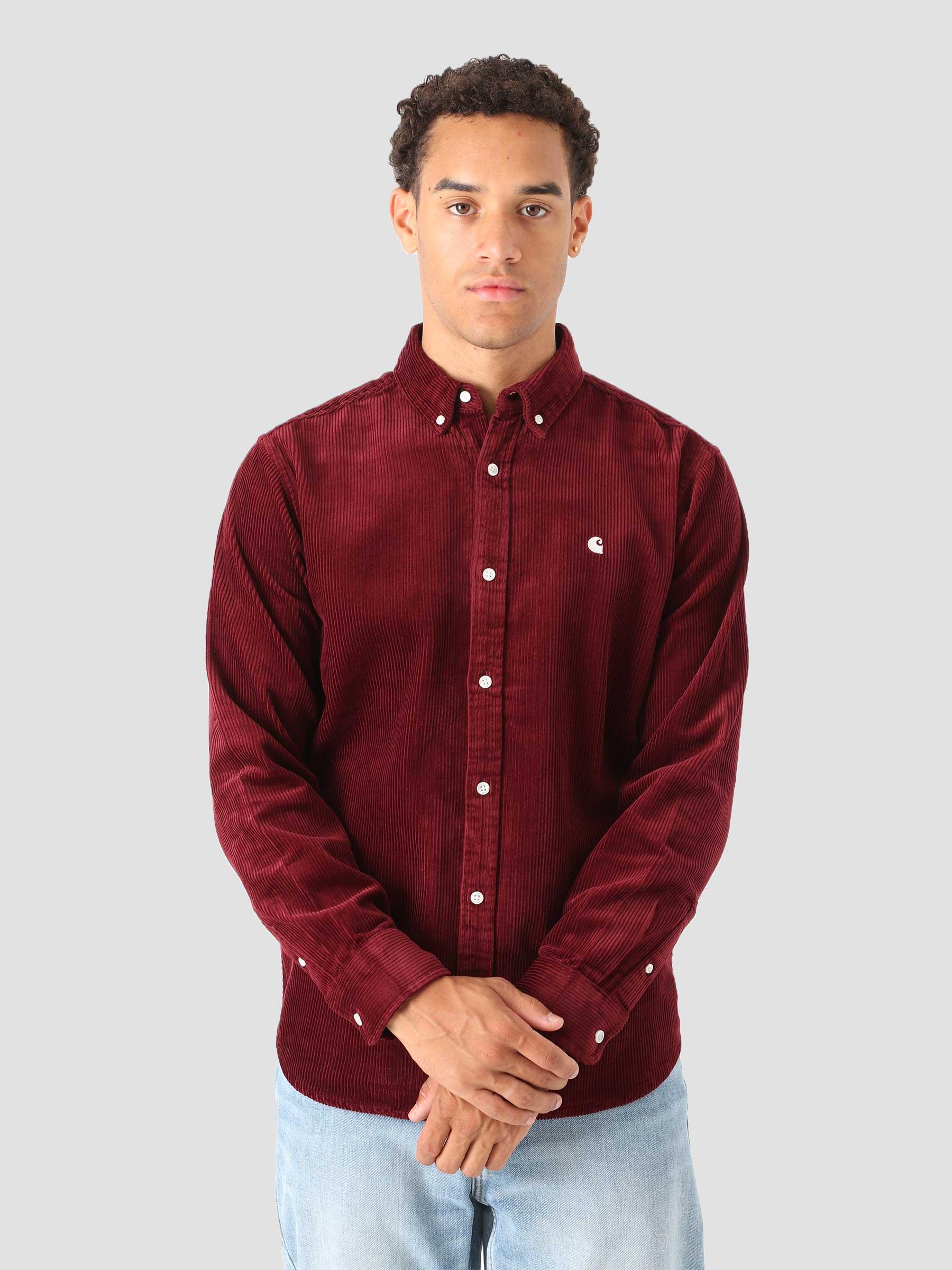 Longsleeve Madison Cord Shirt Jam Wax I029958