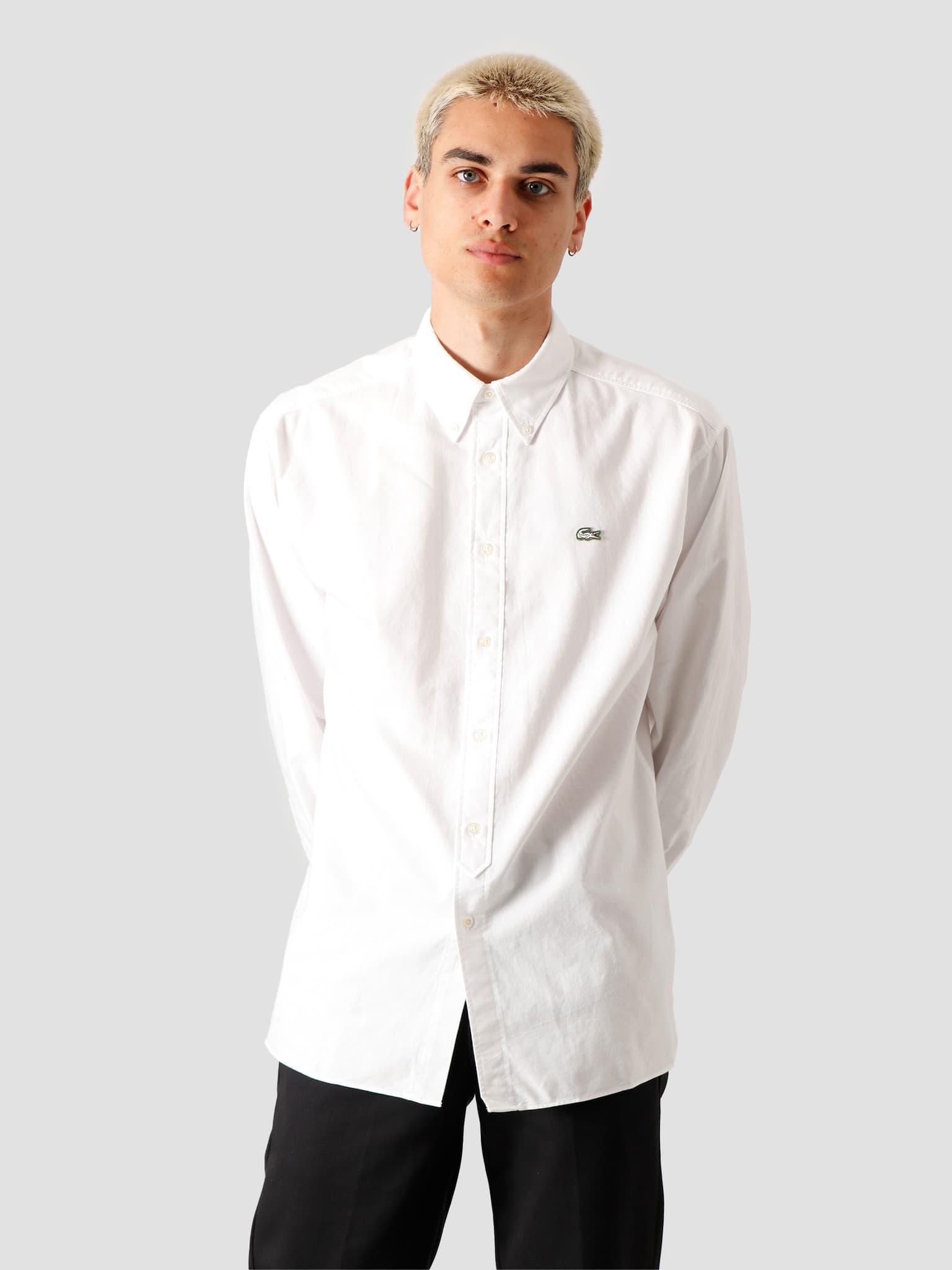 1HC2 Men's Long Sleeve woven shirt 02 White Flour CH3942-01
