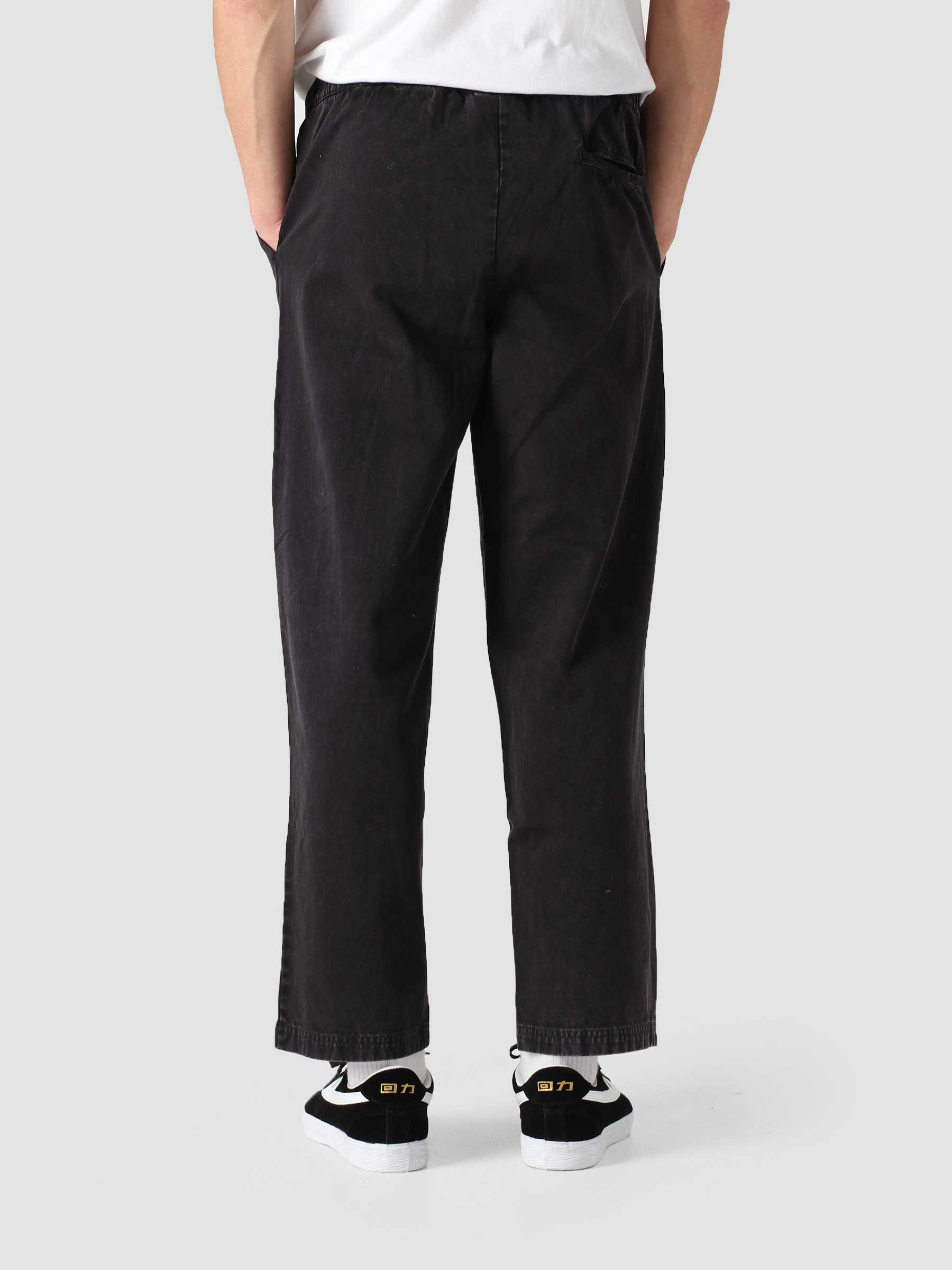 Cotton Twill Pants Black COWO8Q-KK001