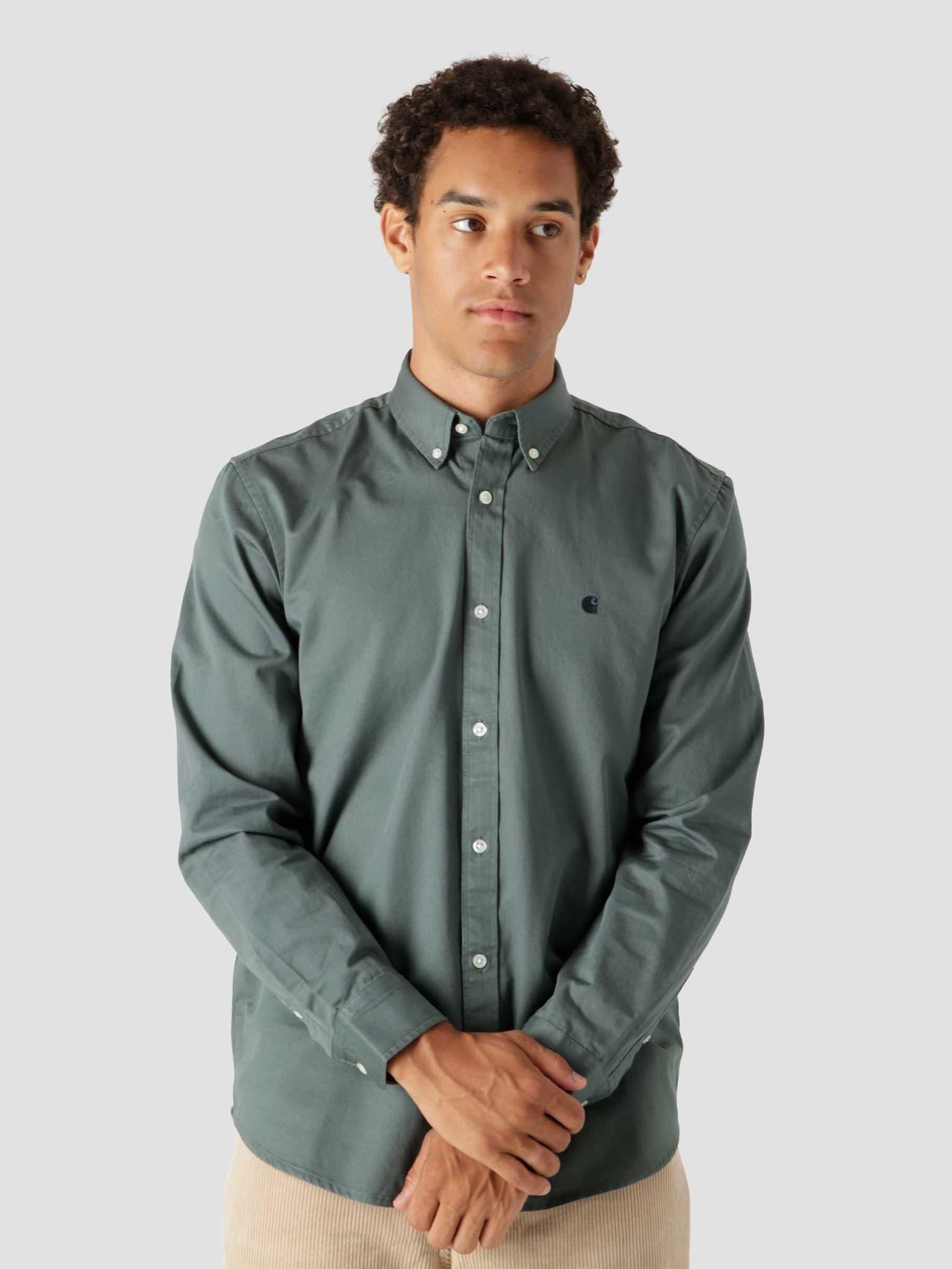 Longsleeve Madison Shirt Eucalyptus Dark Navy I023339