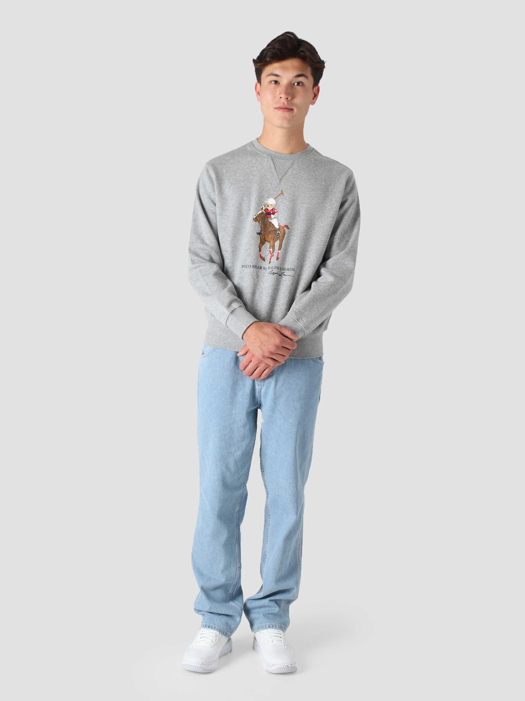 Graphic Fleece Sweatshirt Andover Heather Horse Bear 710853308002