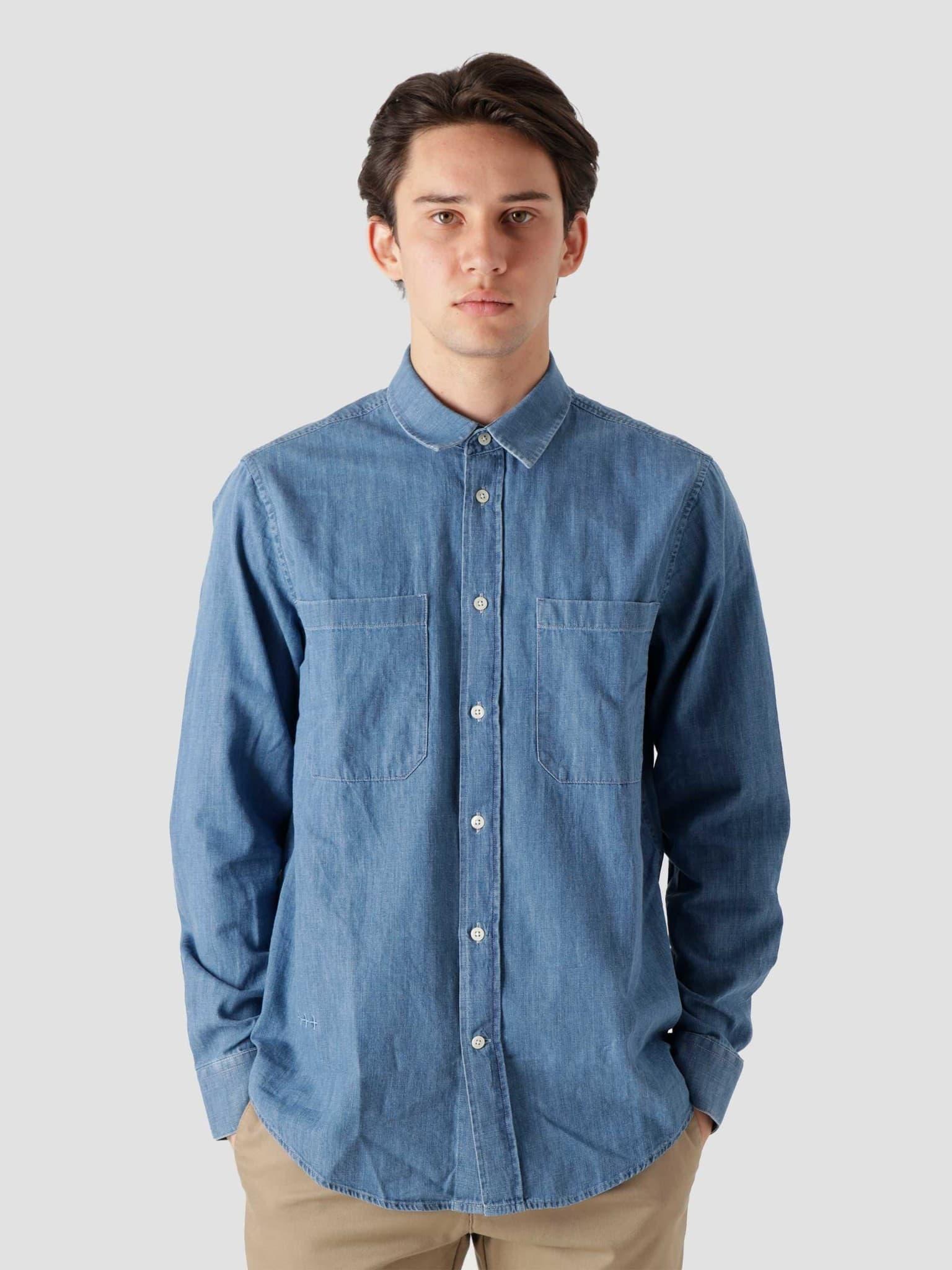 QB45 Denim Shirt Blue Denim