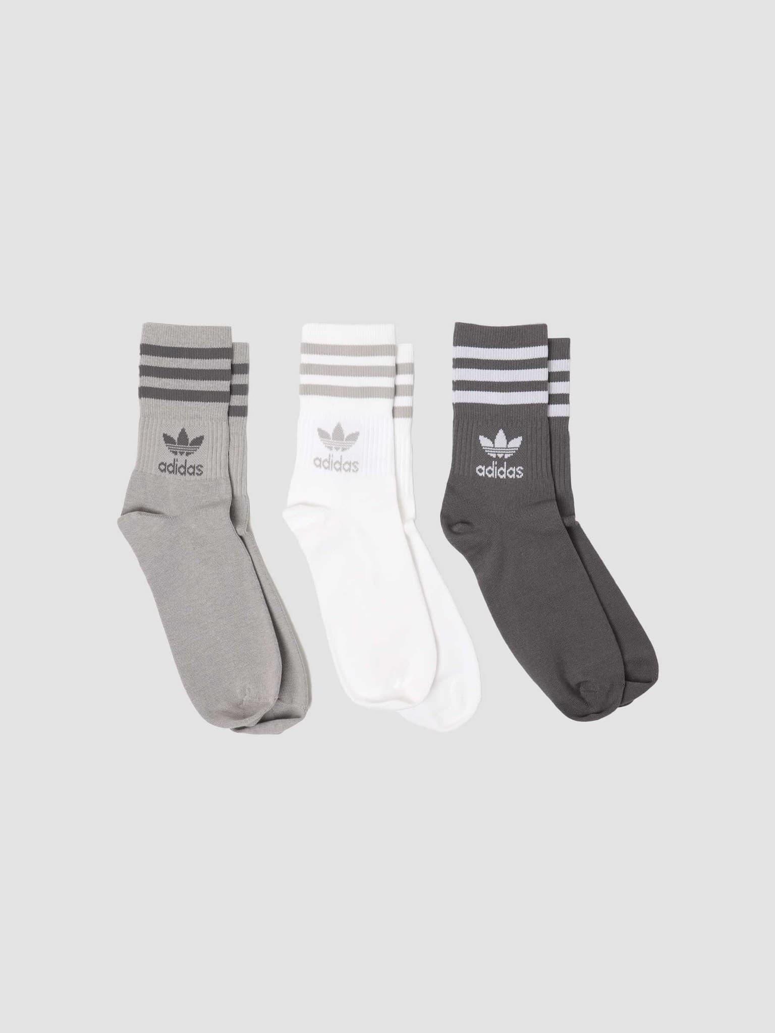 Mid Cut Crew Sock Solid Grey GN3079
