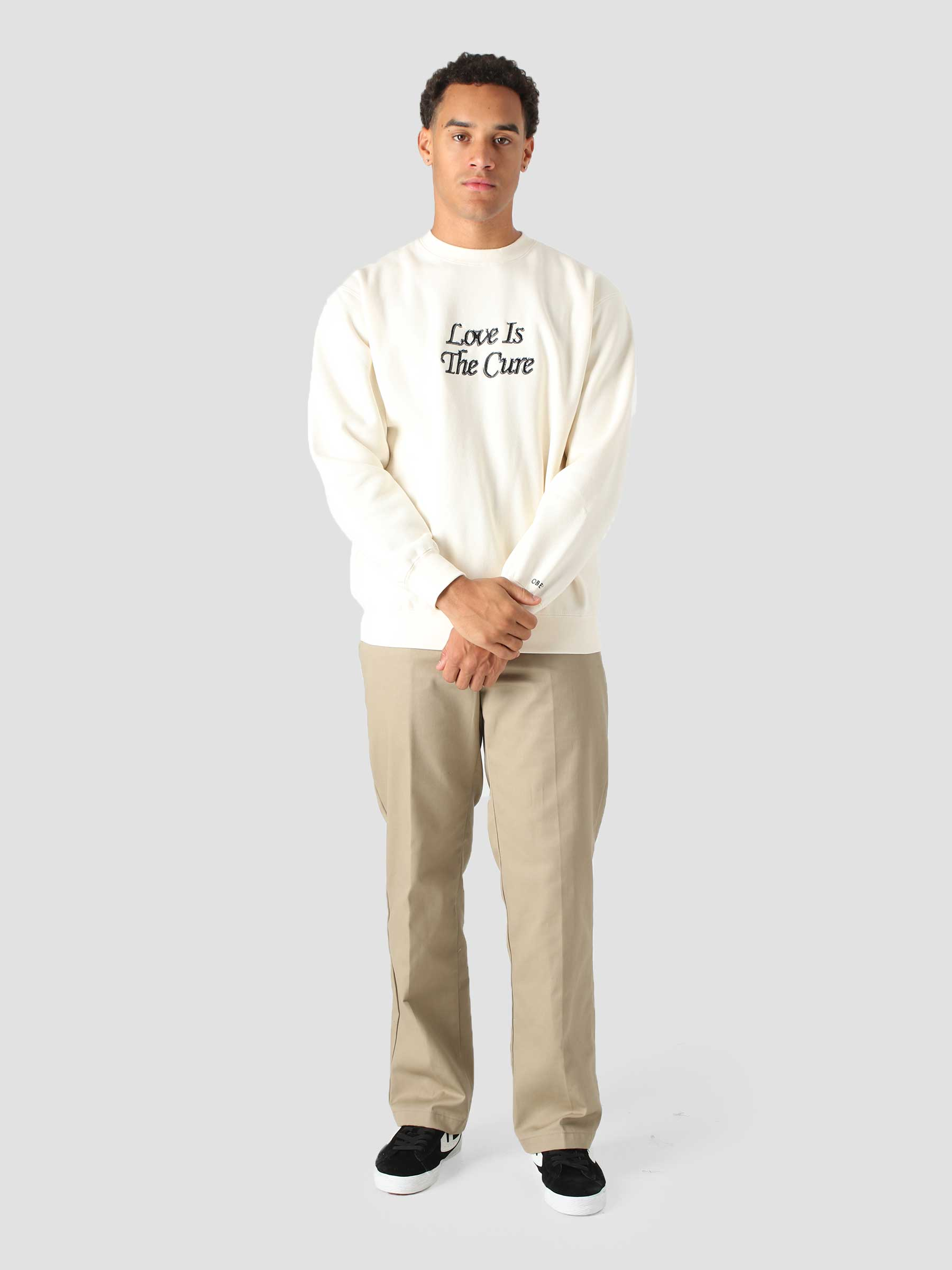 Love Is The Cure Crew Crew Fleece (Embellished) Unbleached 112480102