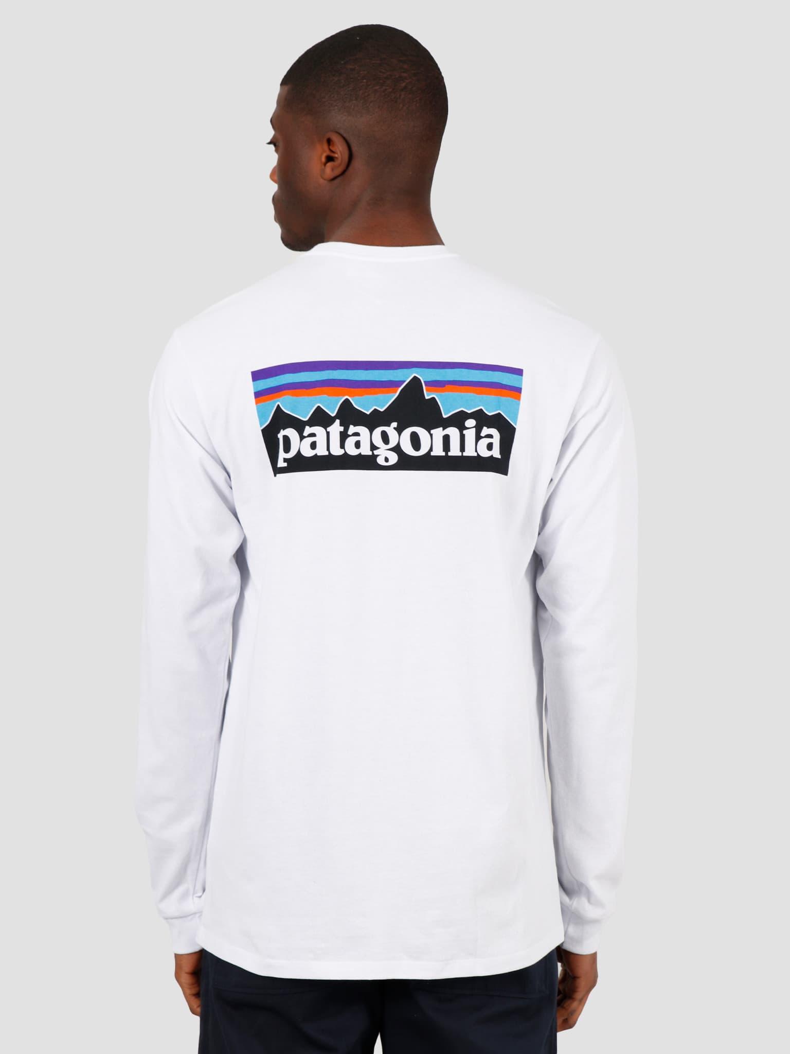 M's Longsleeve P-6 Logo Responsibili T-Shirt White 38518