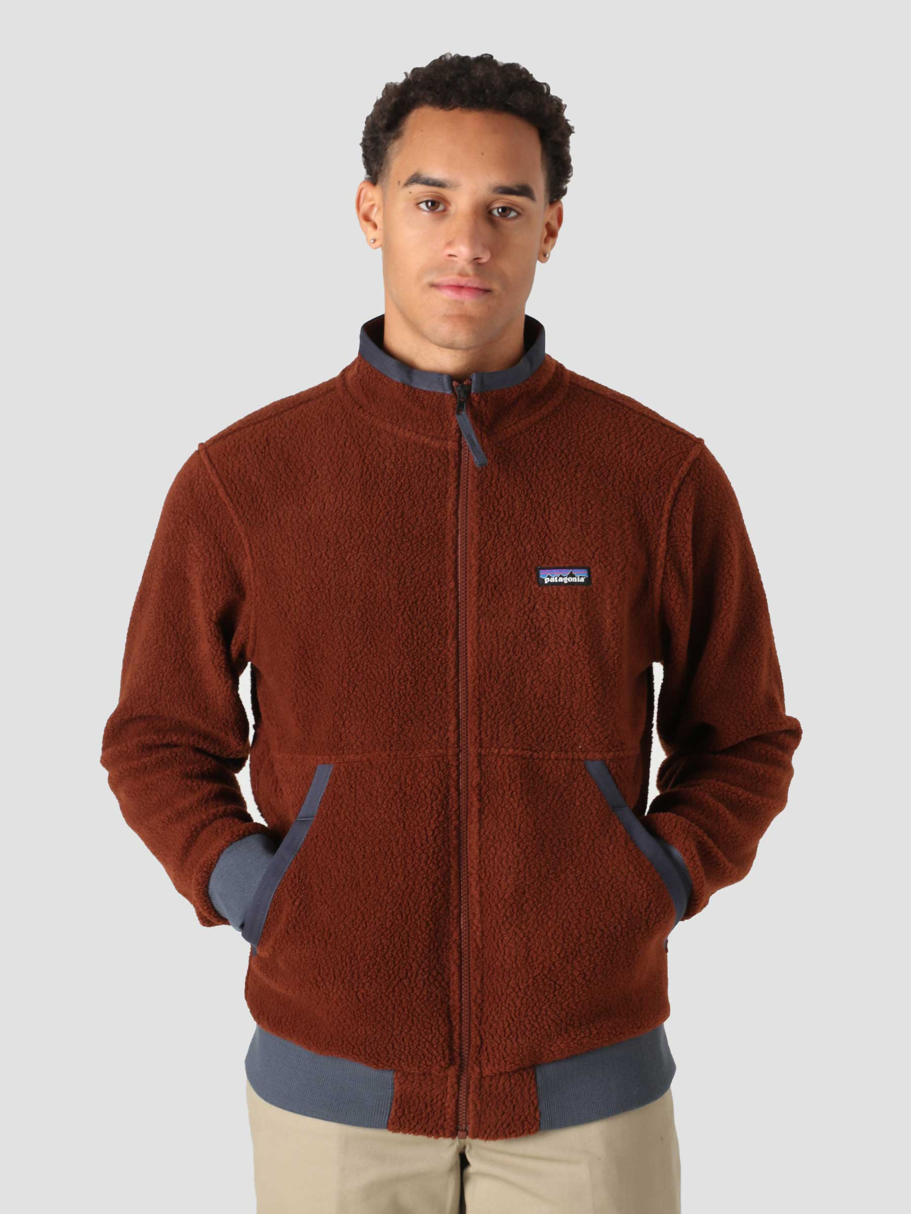 M's Shearling Jacket Fox Red 26125