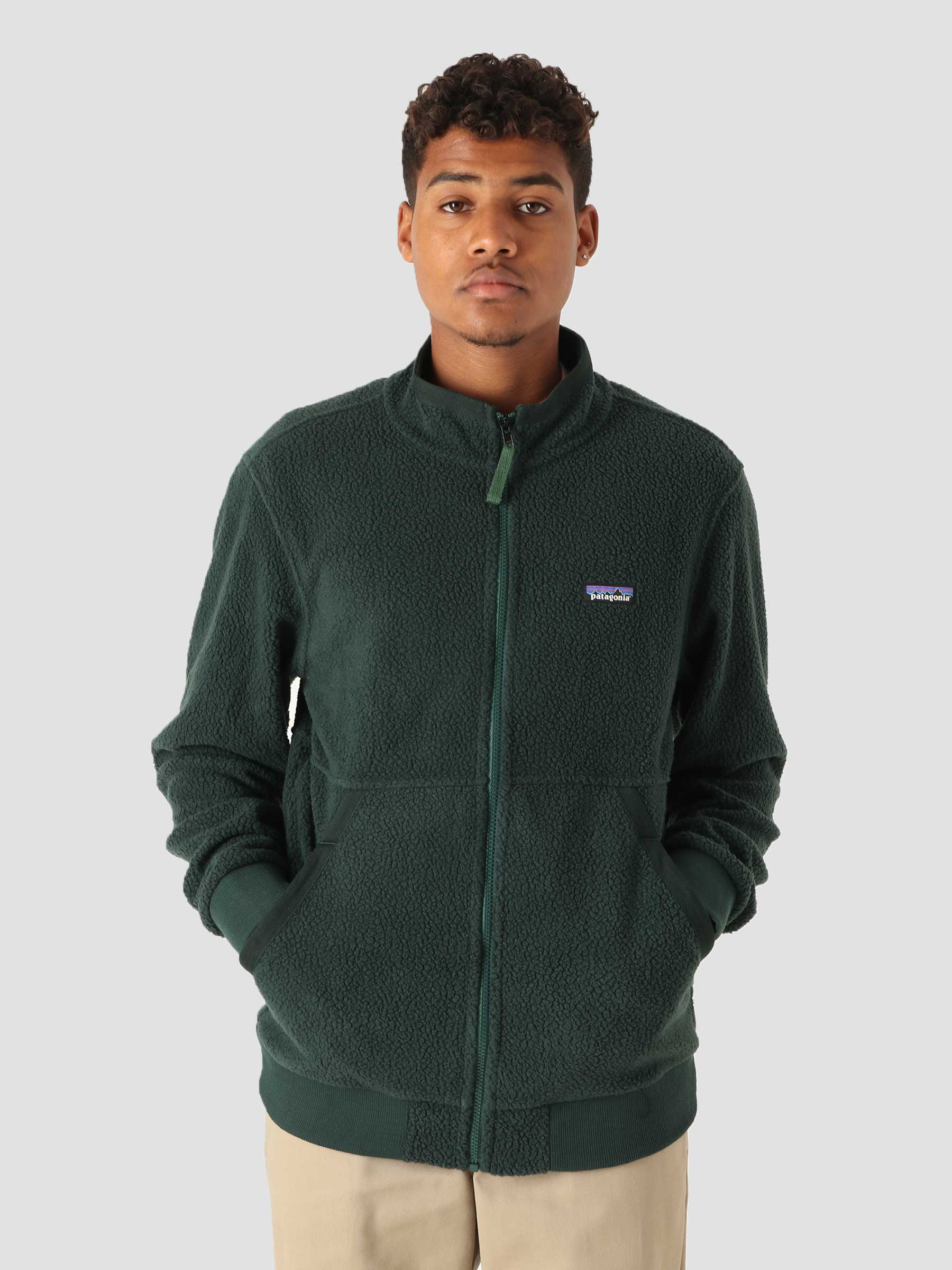 M's Shearling Jacket Northern Green 26125