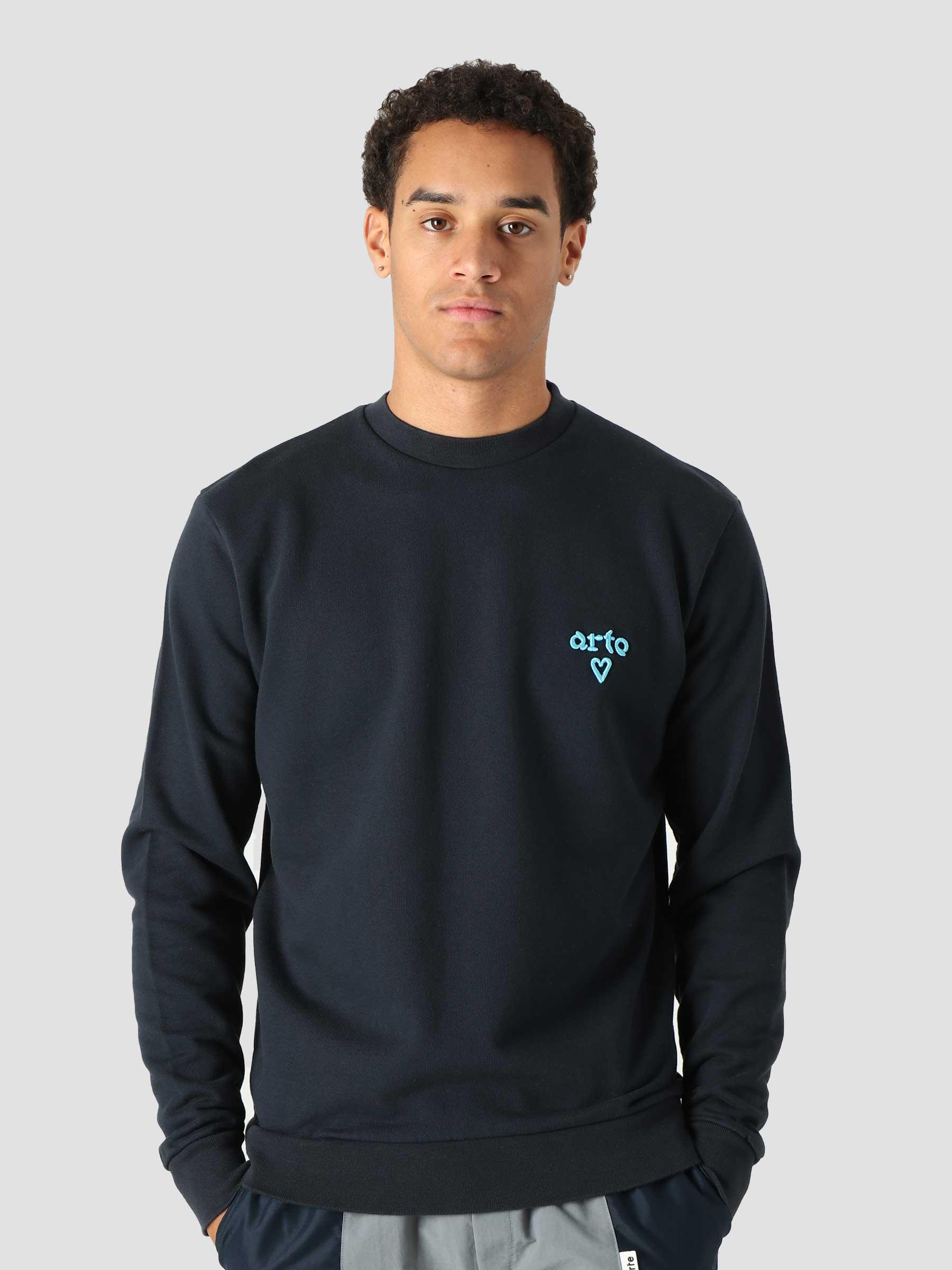 Cassat Heart Logo Sweater Navy AW21-084C