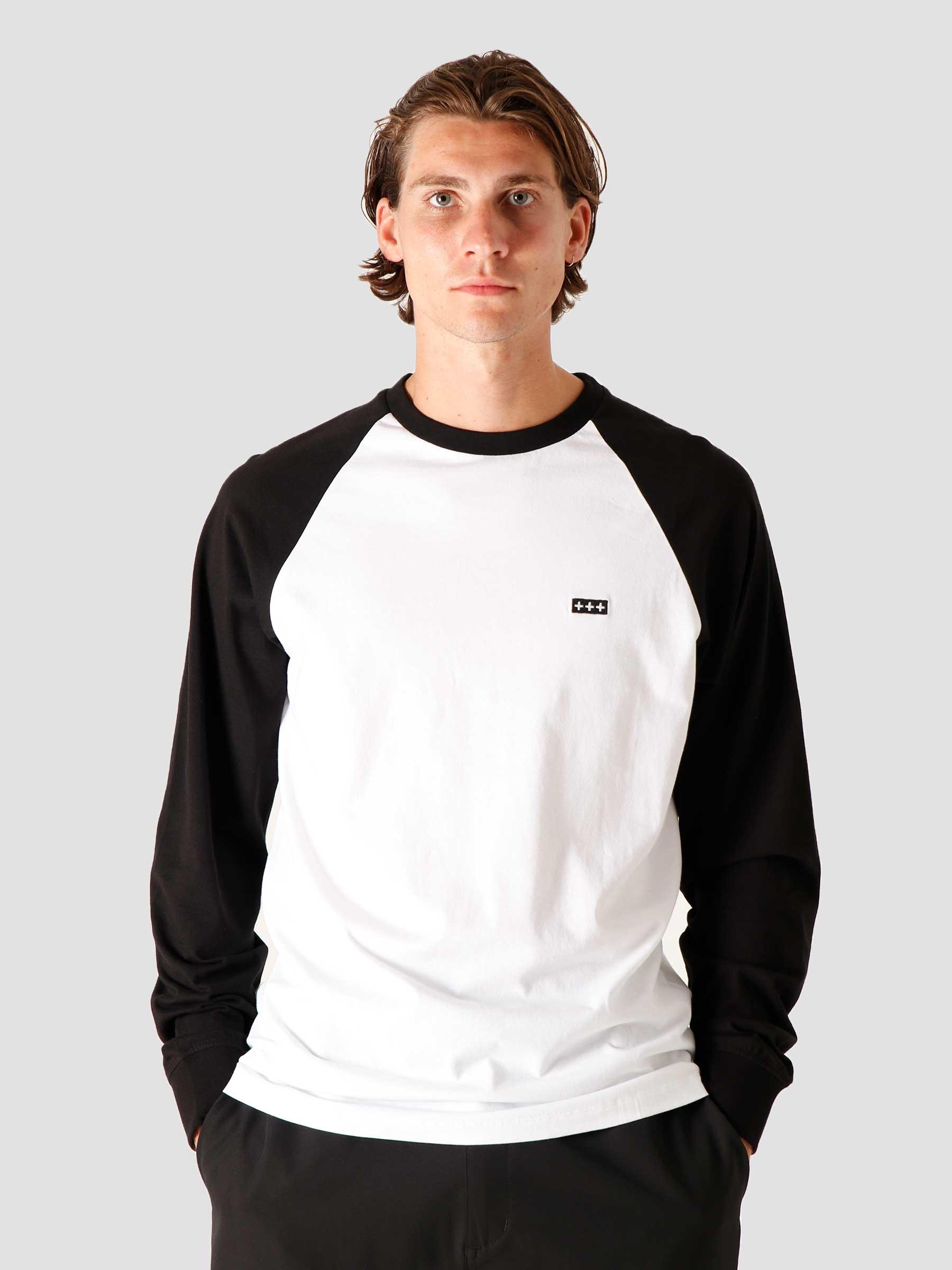 QB09 Patch Logo BB Longsleeve Black/White