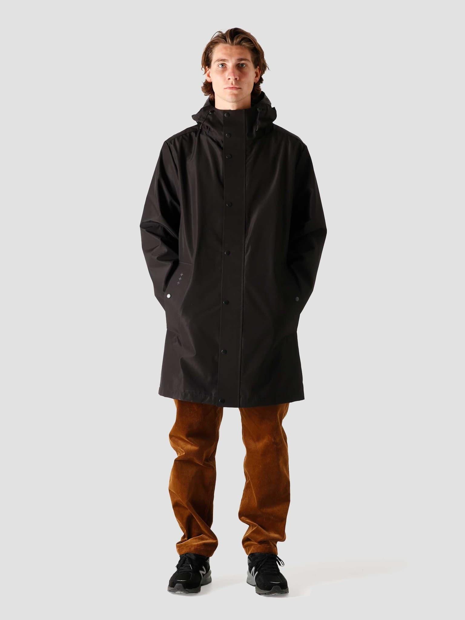 QB220 Rain Coat Black