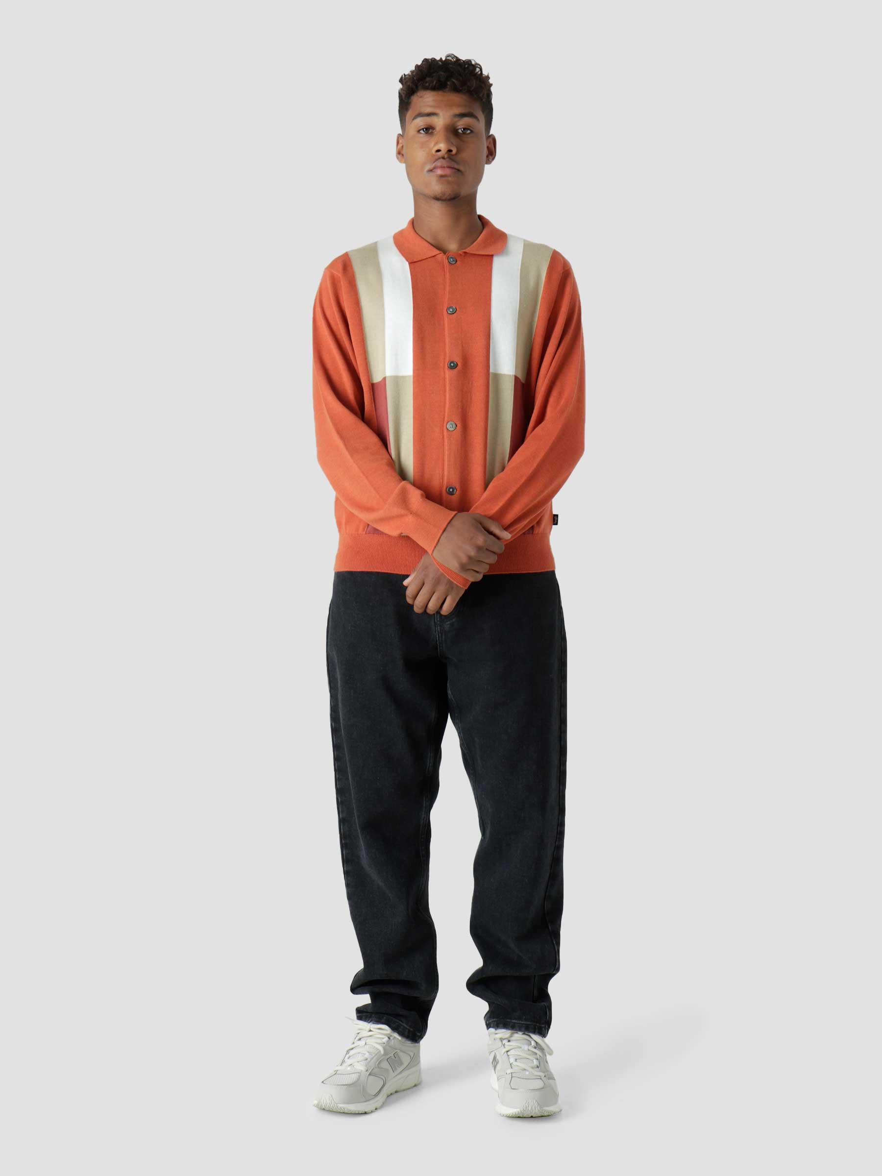 Color Block Sweater Burnt Orange 117093