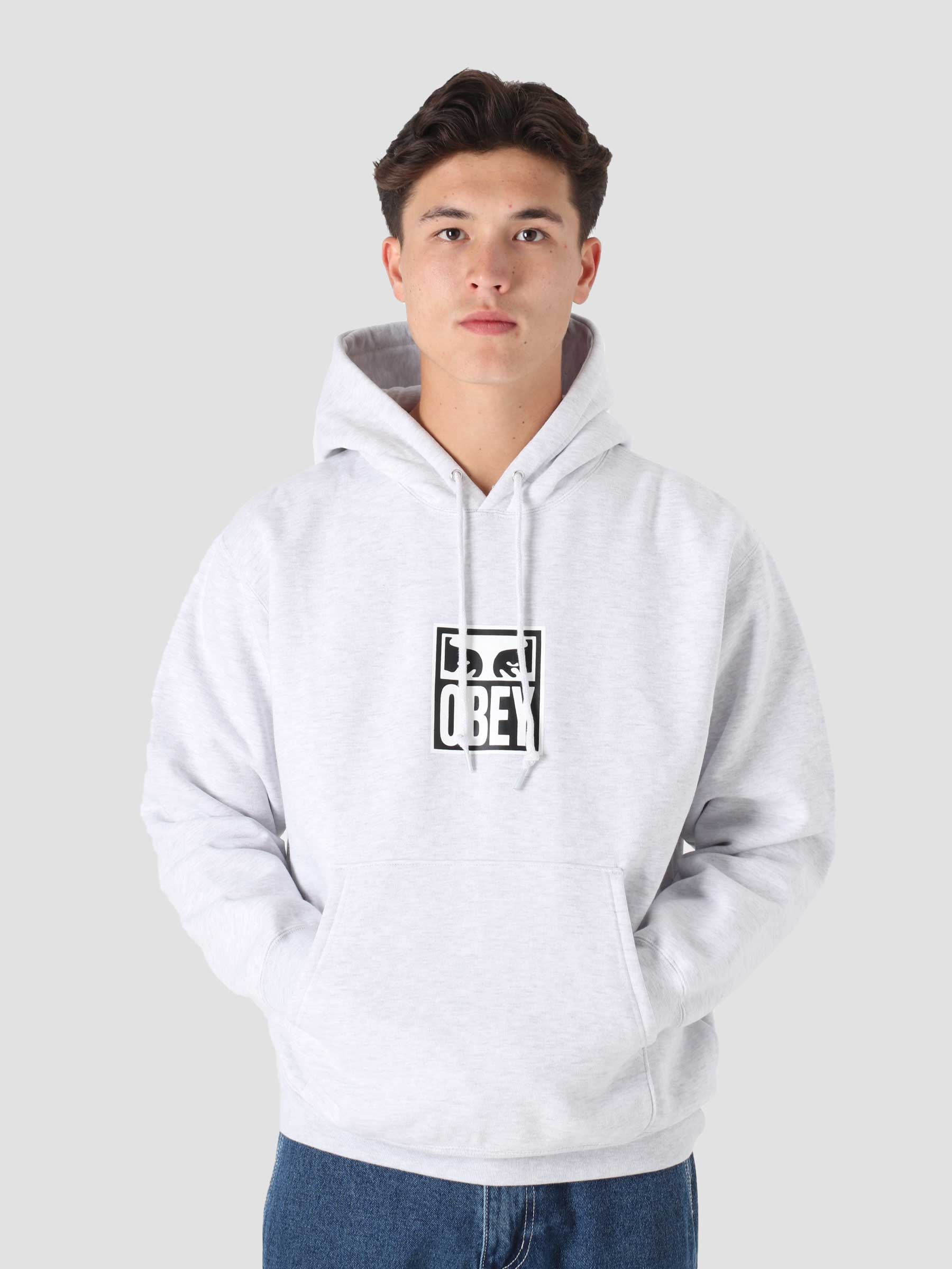 Obey Eyes Icon 3 Box Fit Premium Hood Ash Grey 112842712