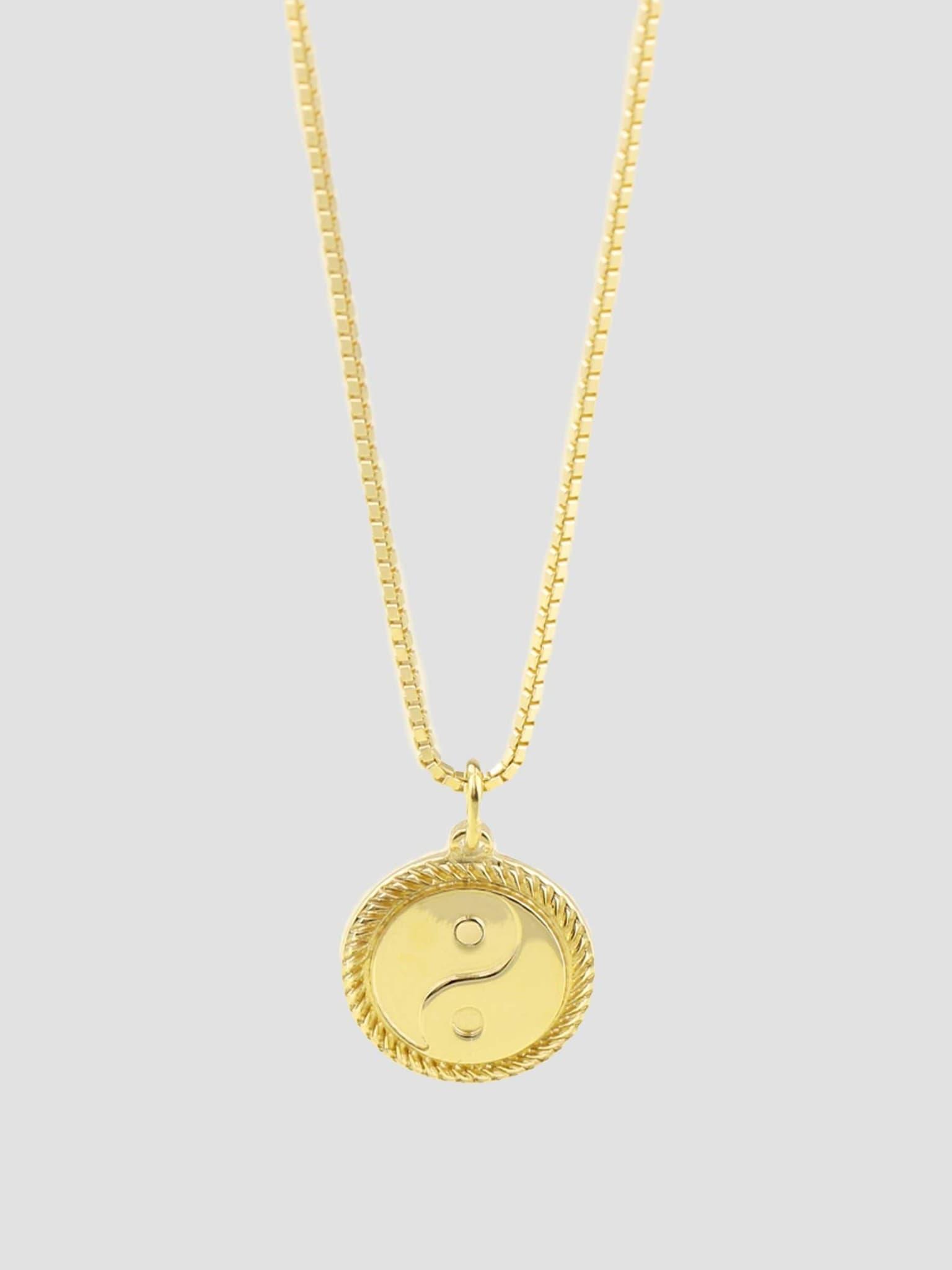 Yin Yang Necklace Gold