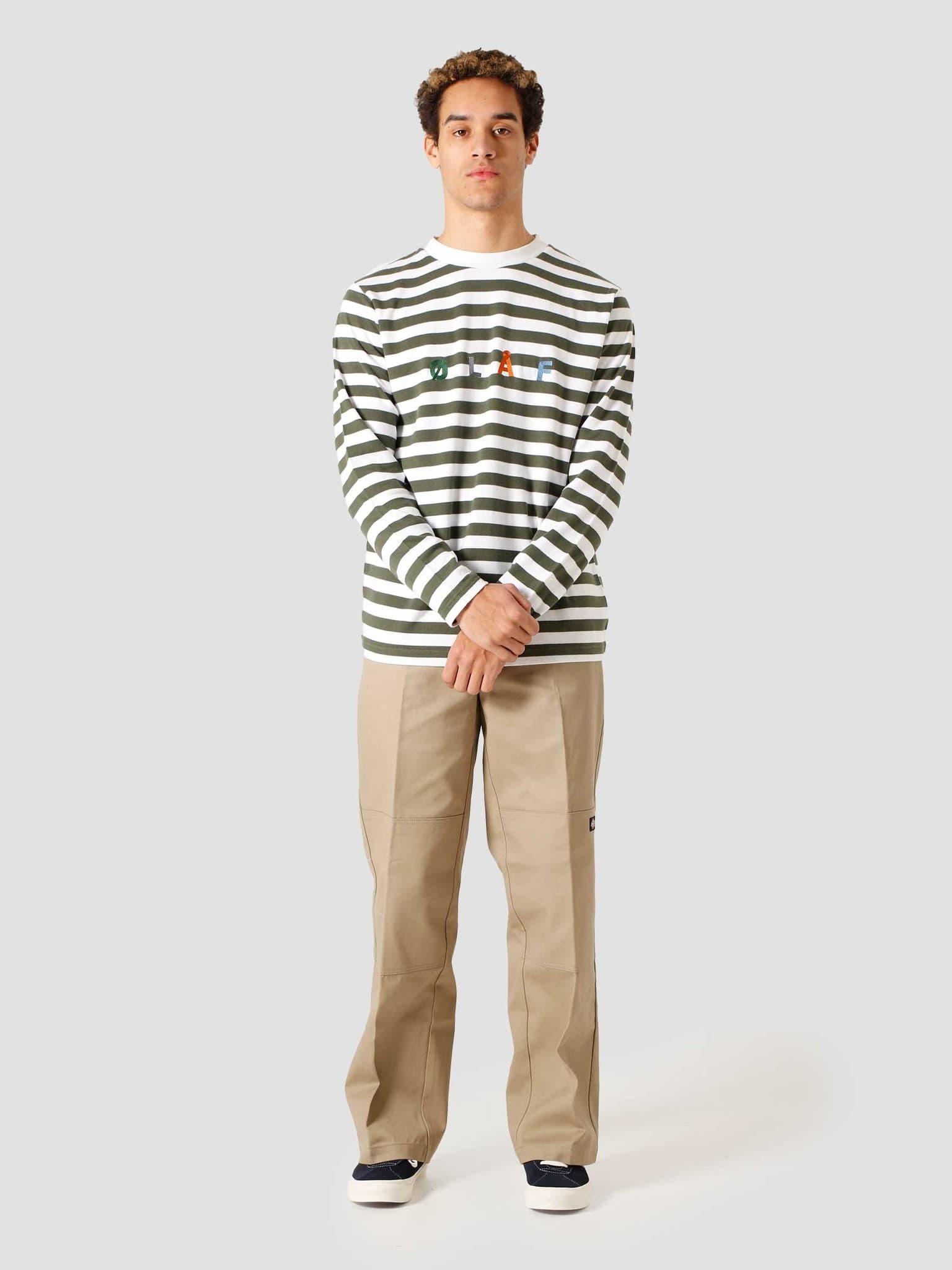 OH Stripe Sans Longsleeve T-Shirt Sage White