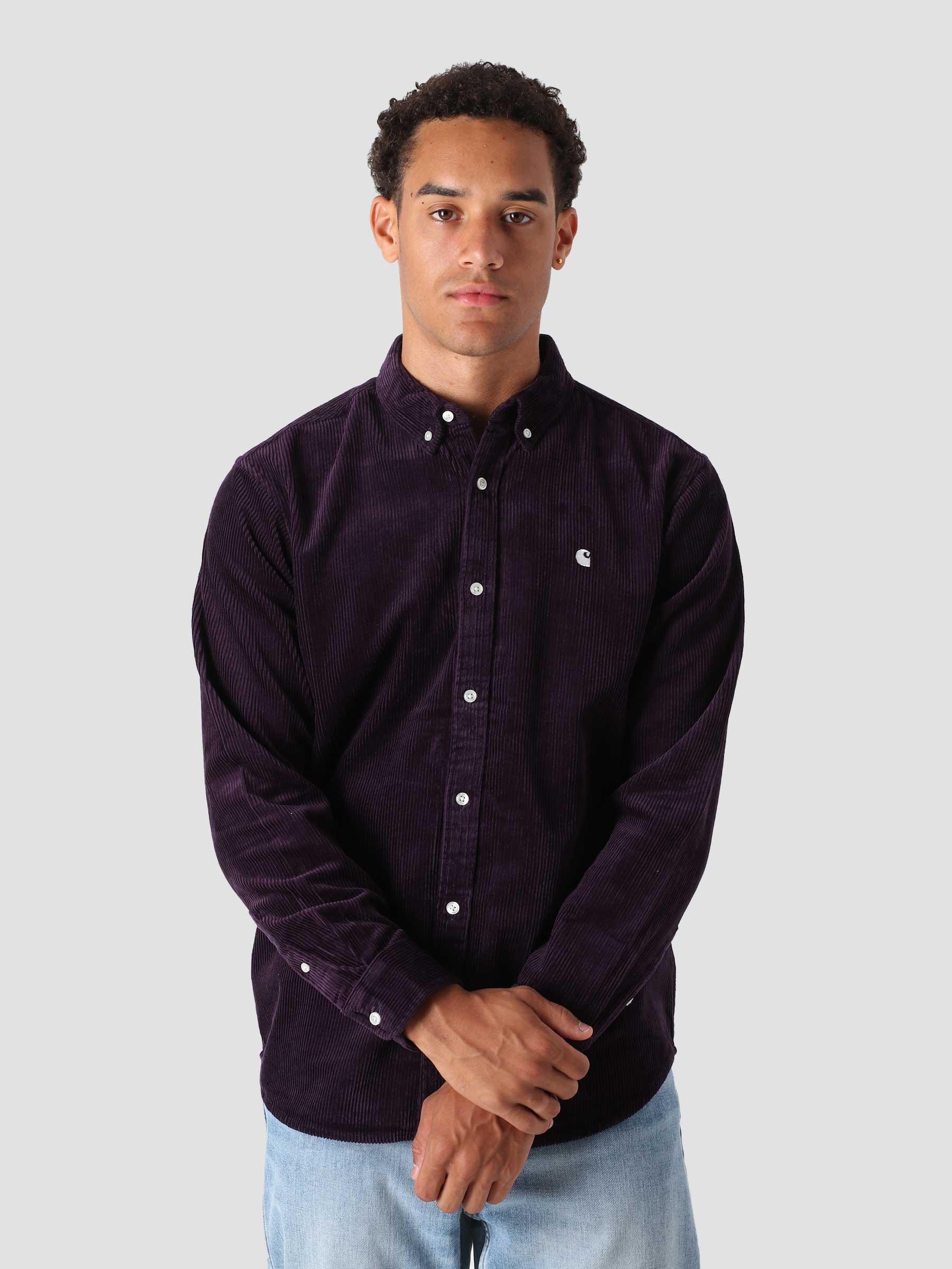 Longsleeve Madison Cord Shirt Dark Iris Wax I029958