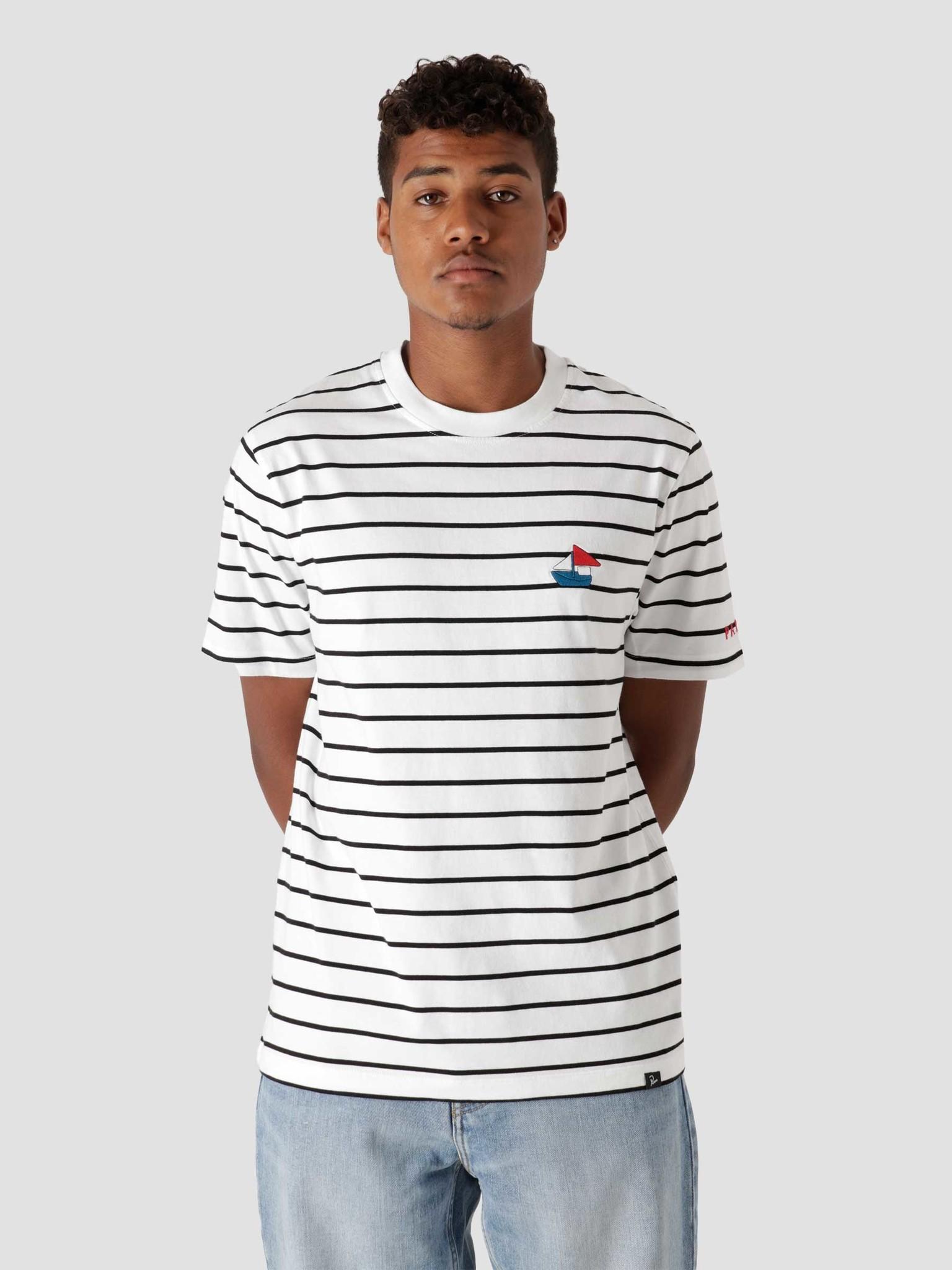 Paper Boat Striper T-Shirt White  46110