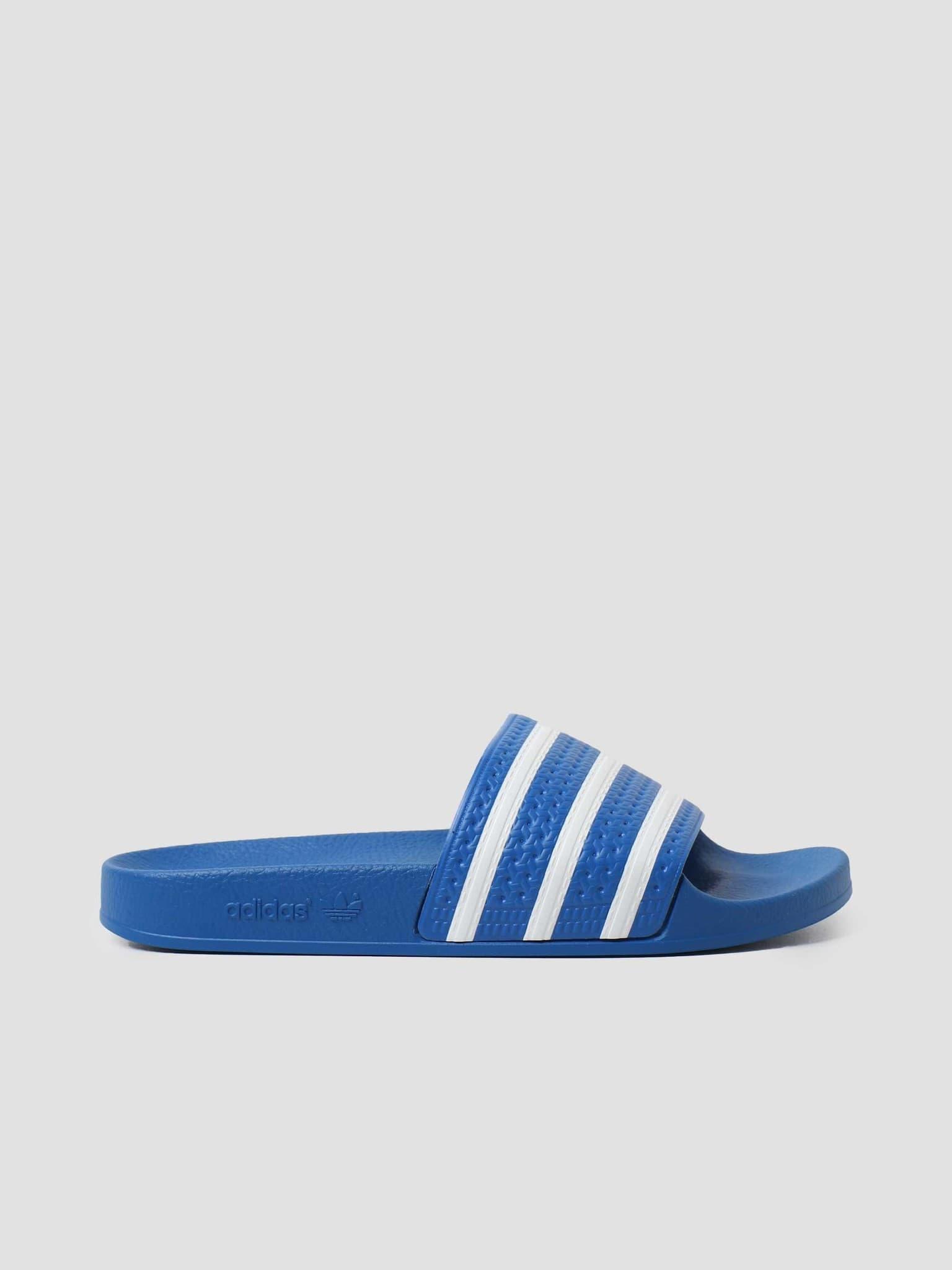 Adilette Footwear White Blue FX5834
