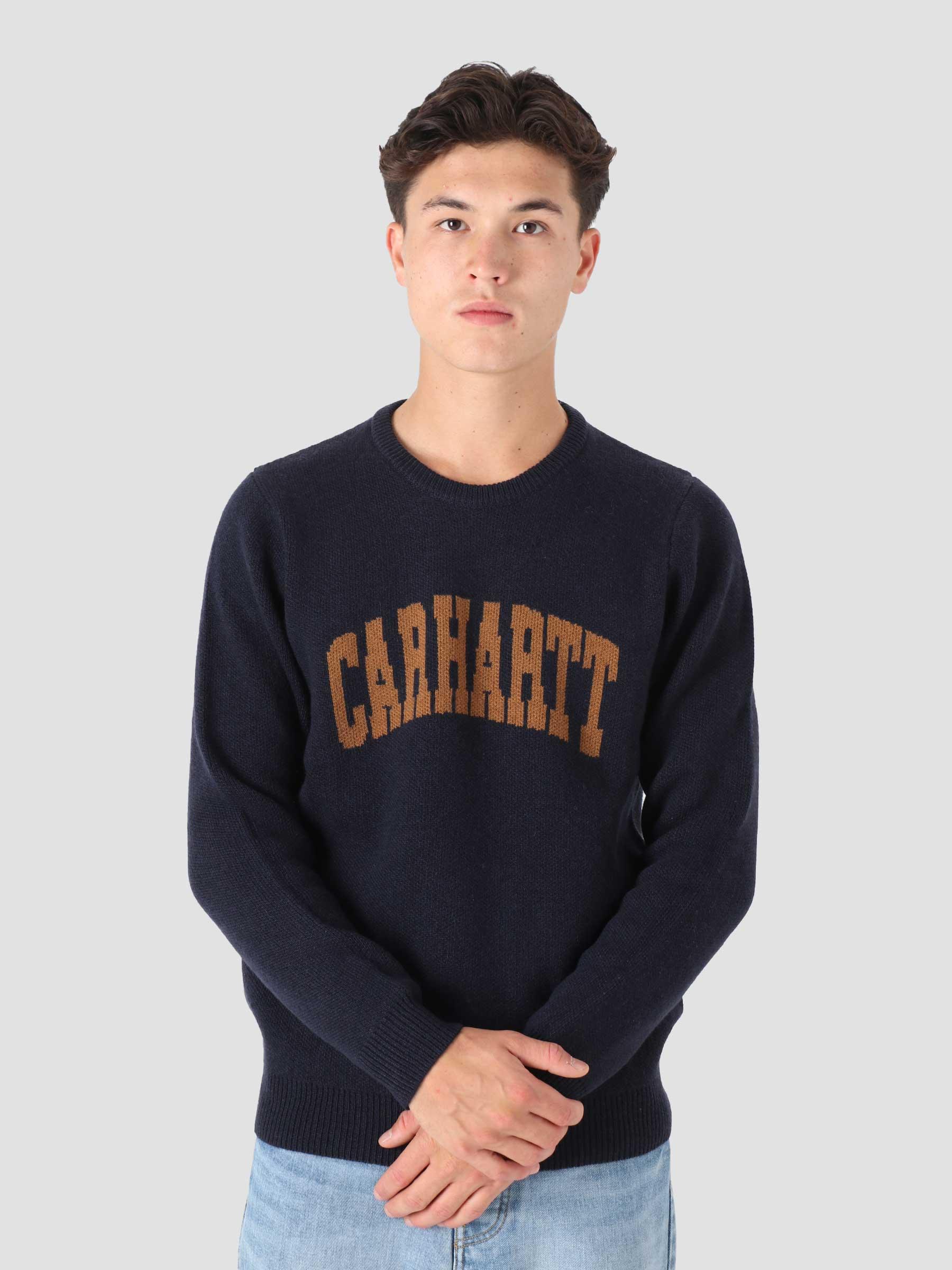 University Script Sweater Dark Navy Hamilton Brown I029515