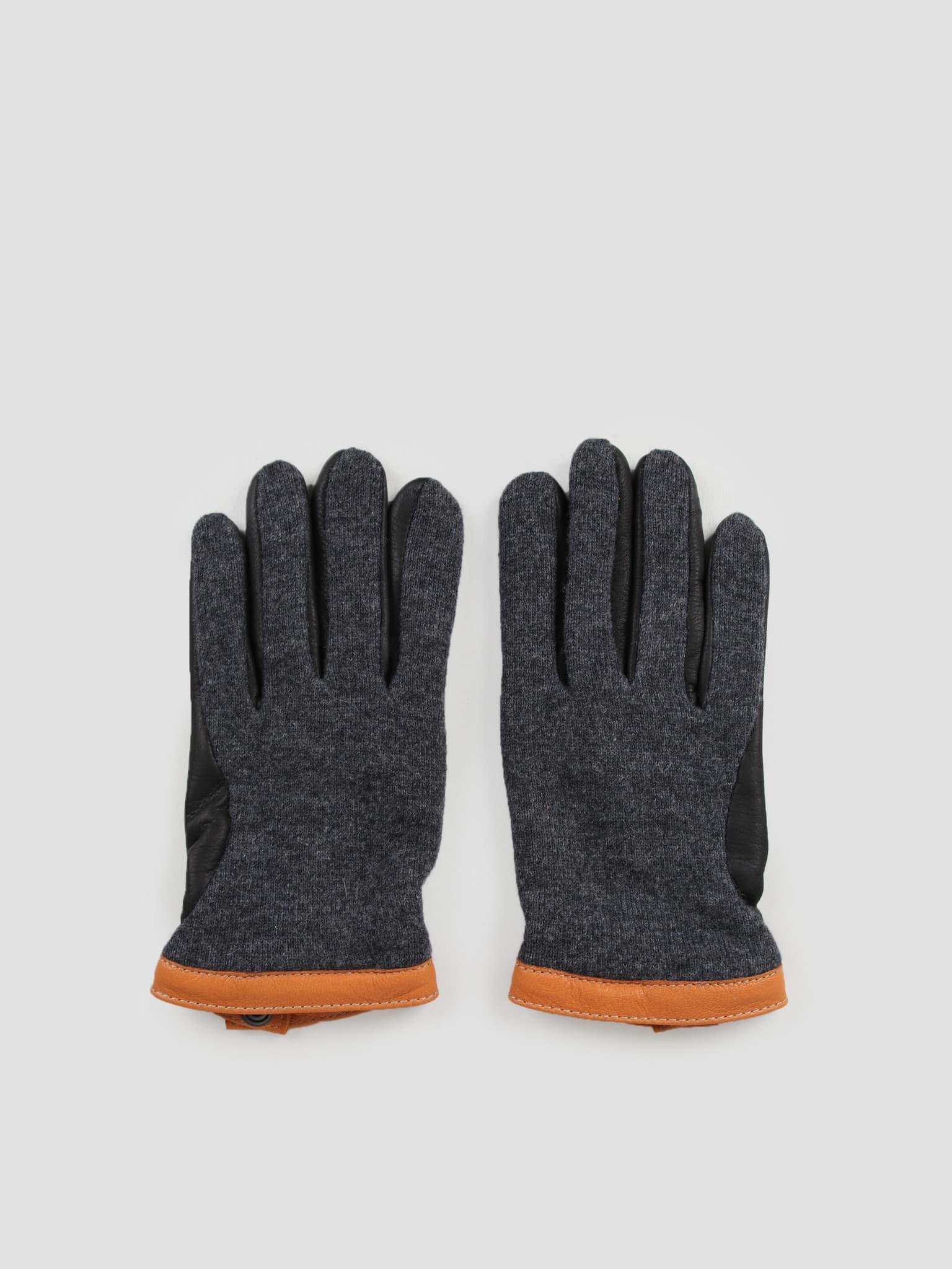 Deerskin Wool Tricot Charcoal Black 20450
