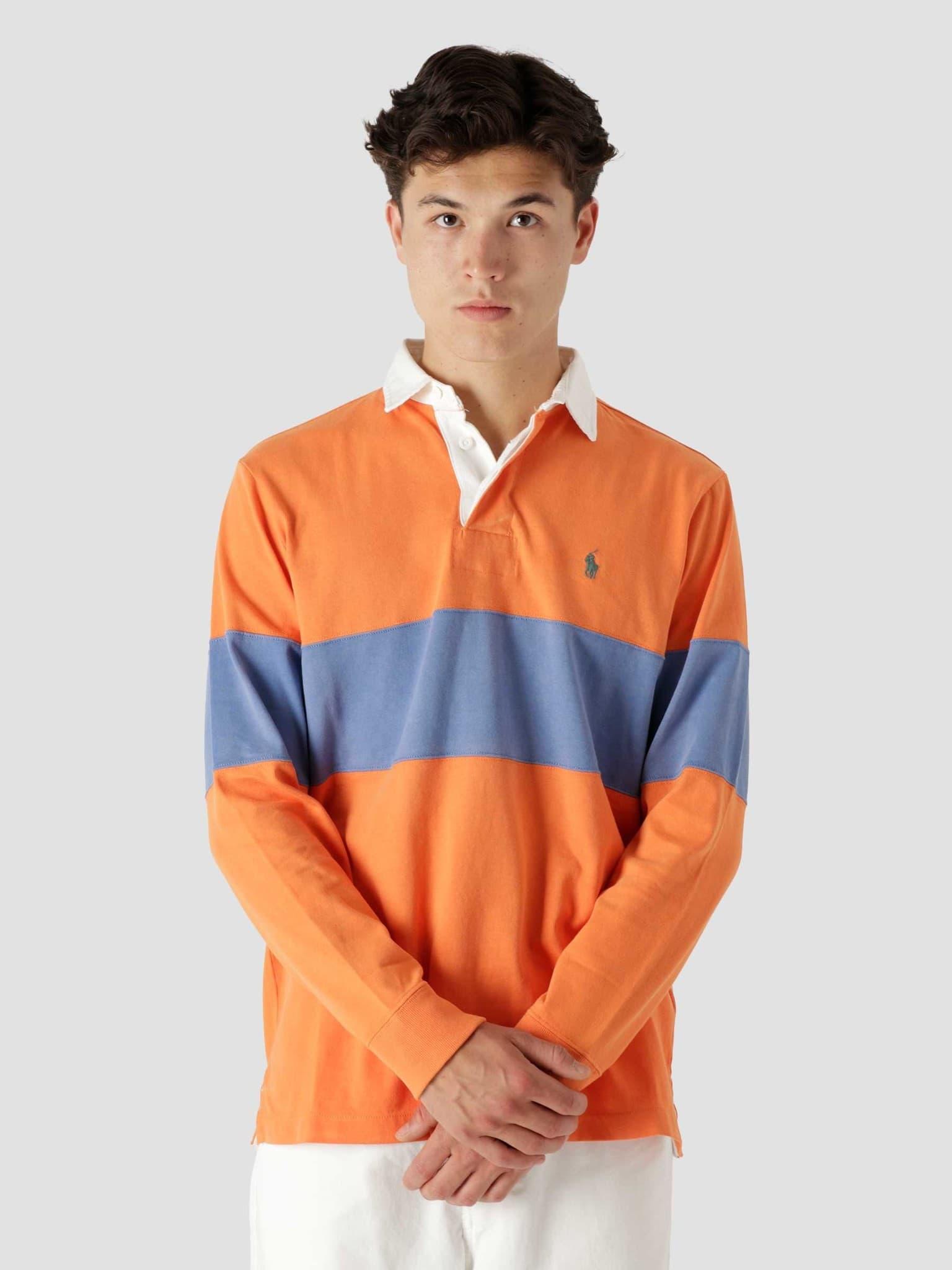 10-1 Jersey Long Sleeve Rugby Kona Orange Deep Blue 710850547001