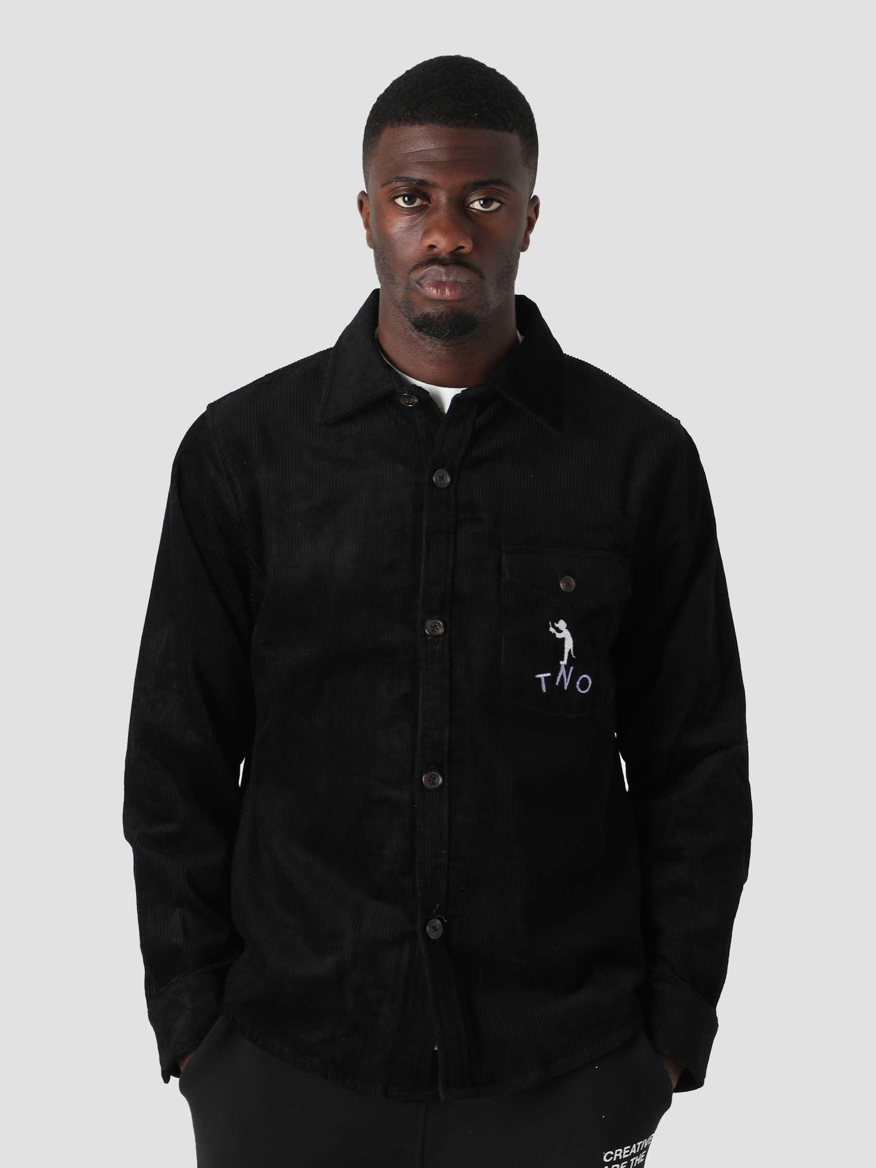 Corduroy Button Up Black TNO.211.TL.101.999