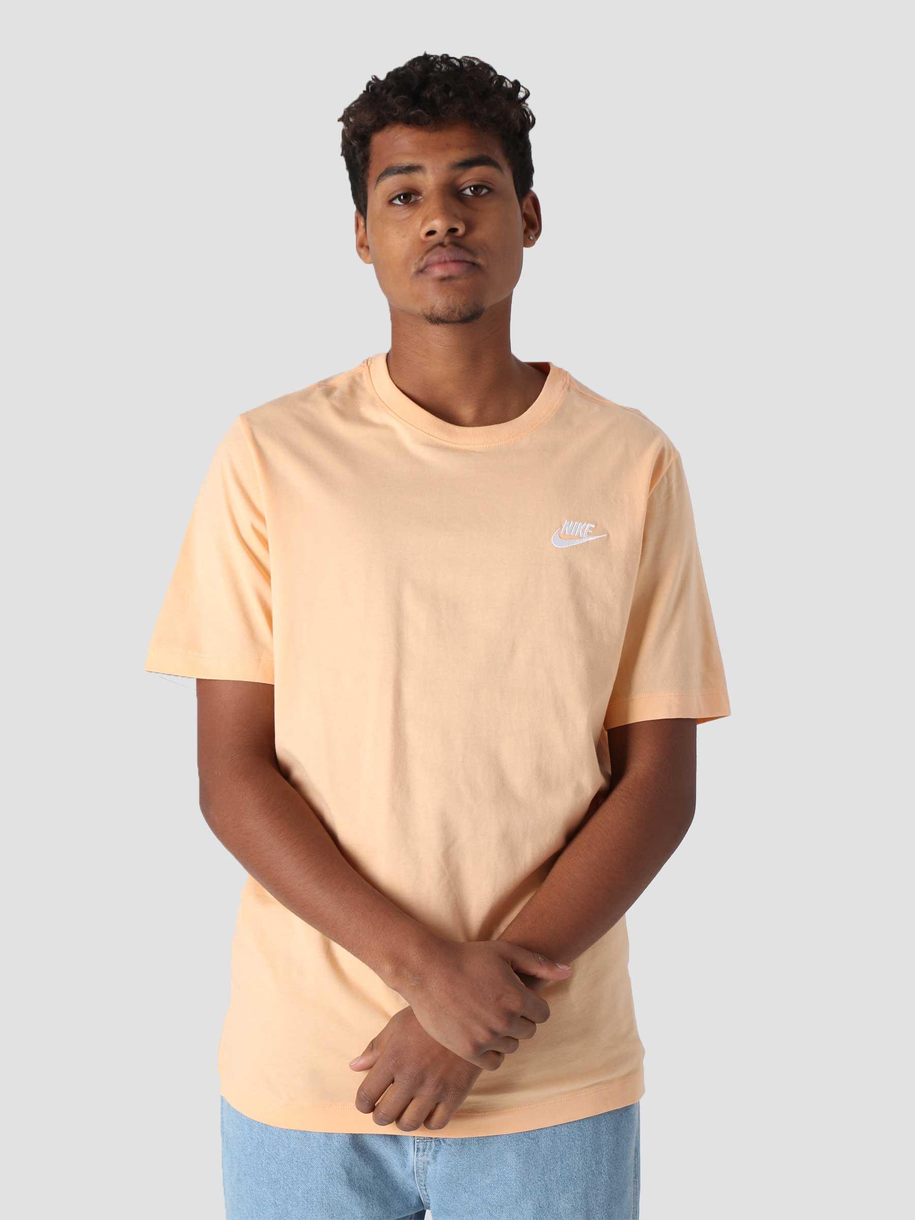 M NSW Club T-Shirt Orange Chalk White AR4997-734