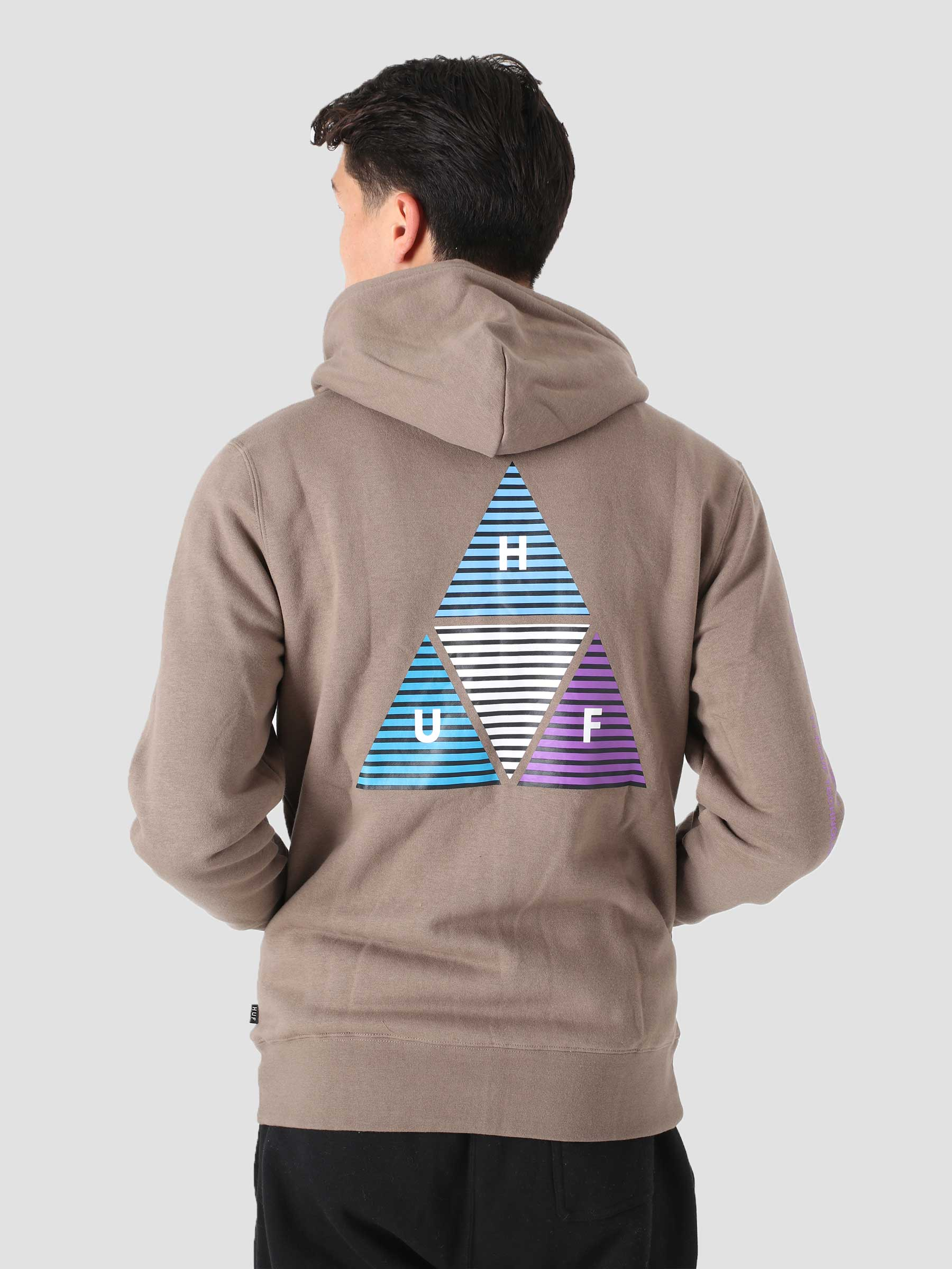 Prism TT Full Zip Hoodie Walnut PF00401-WALNT