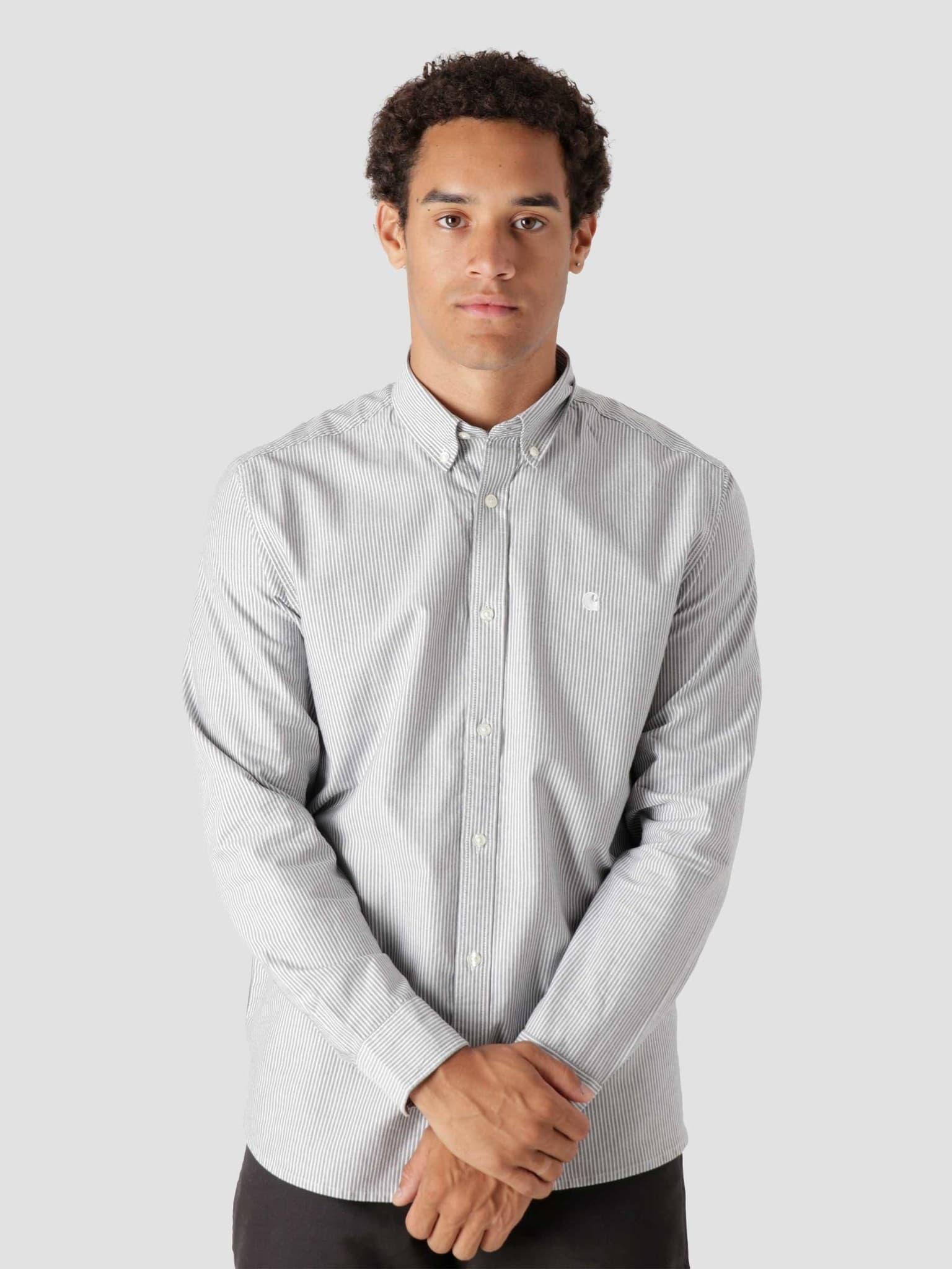 Longsleeve Duffield Shirt Duffield Stripe Black White I025245-8990