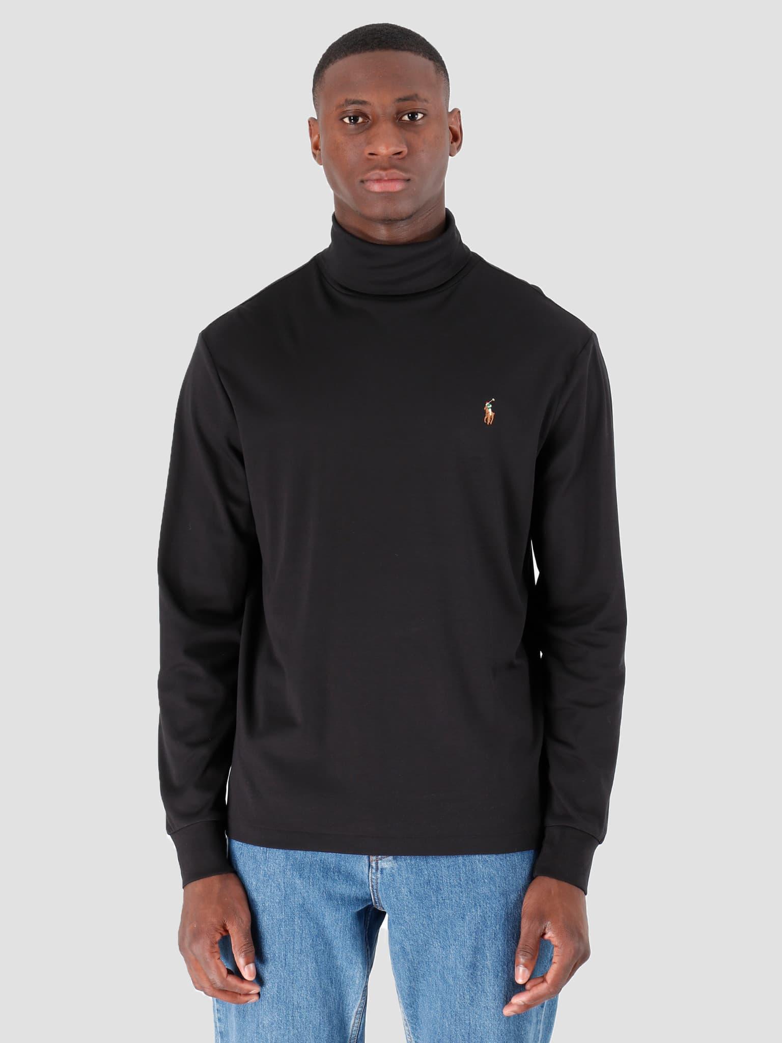 Lsturtlem1 Long Sleeve Knit Polo Black 710760126001