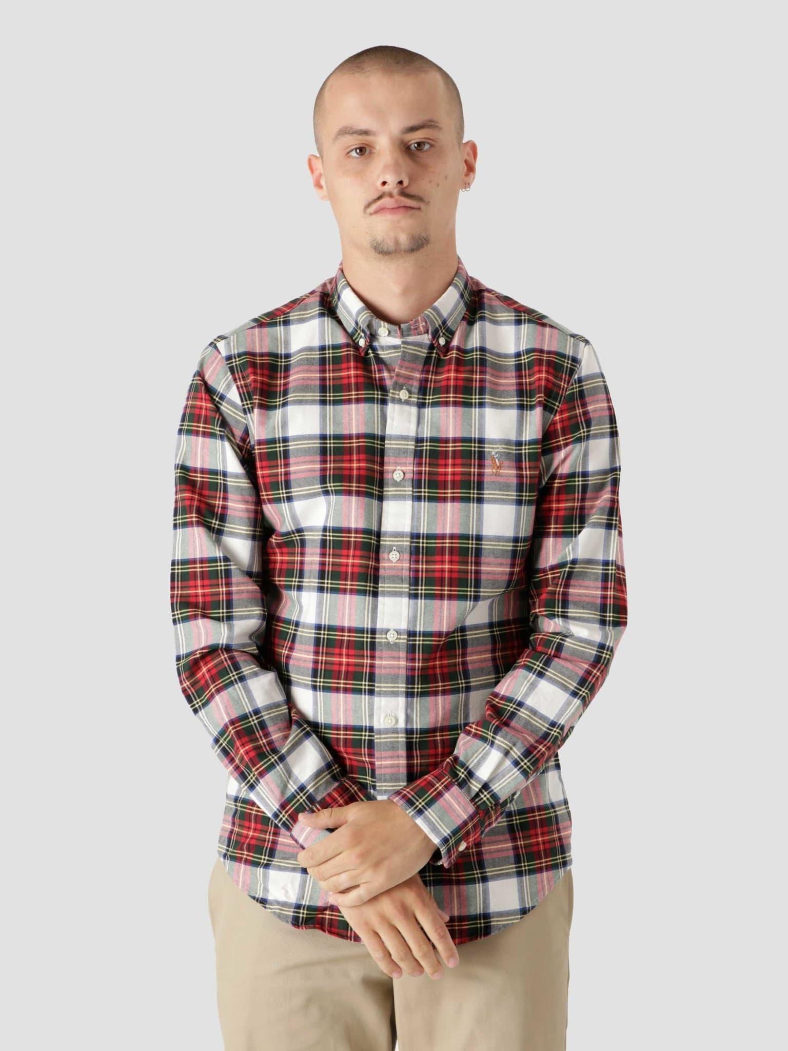 40-1 Yd Oxford Shirt 4903 White Red 710853154003
