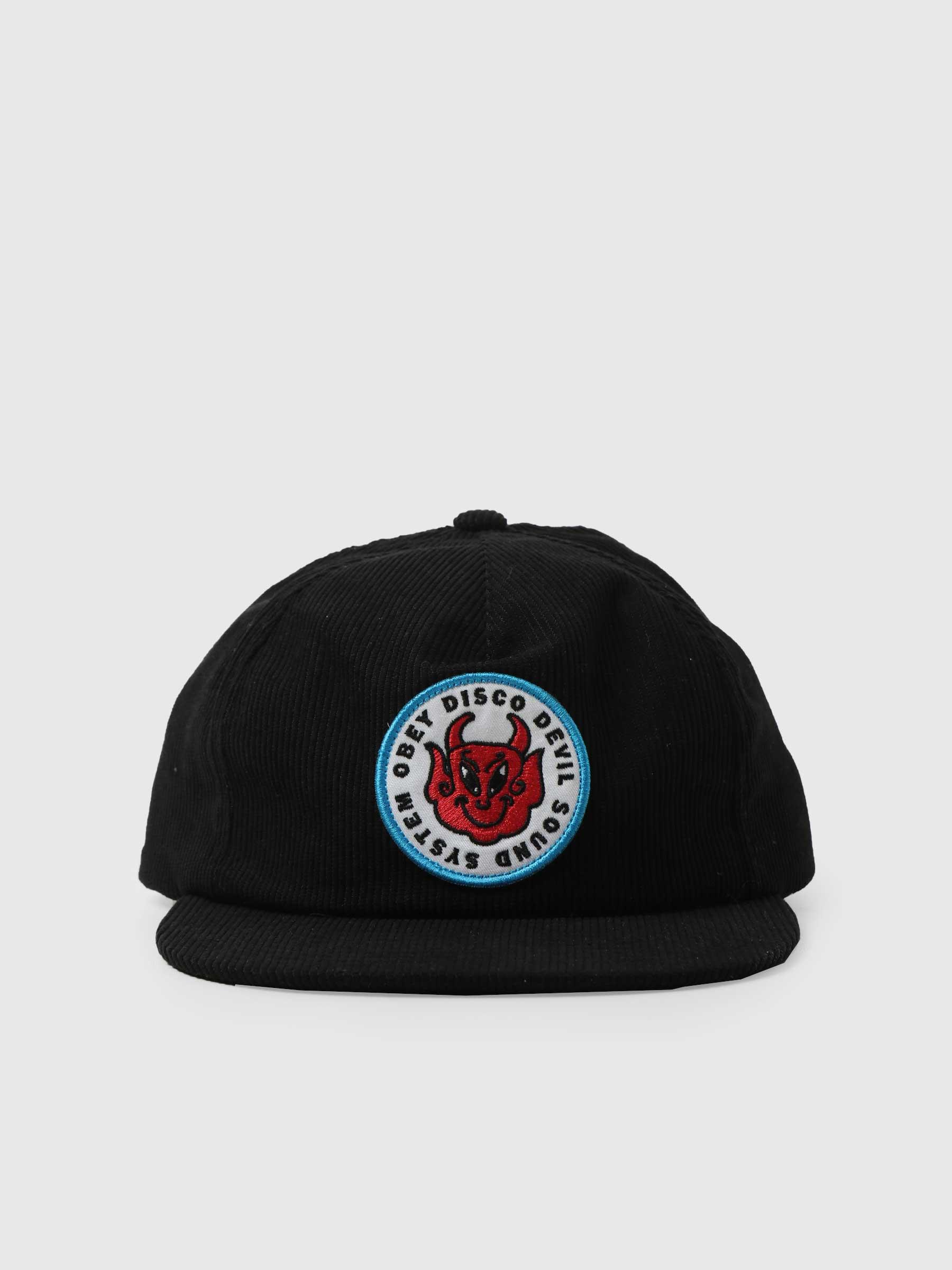 Obey Disco Devil 6 Panel Hat Black 100580294