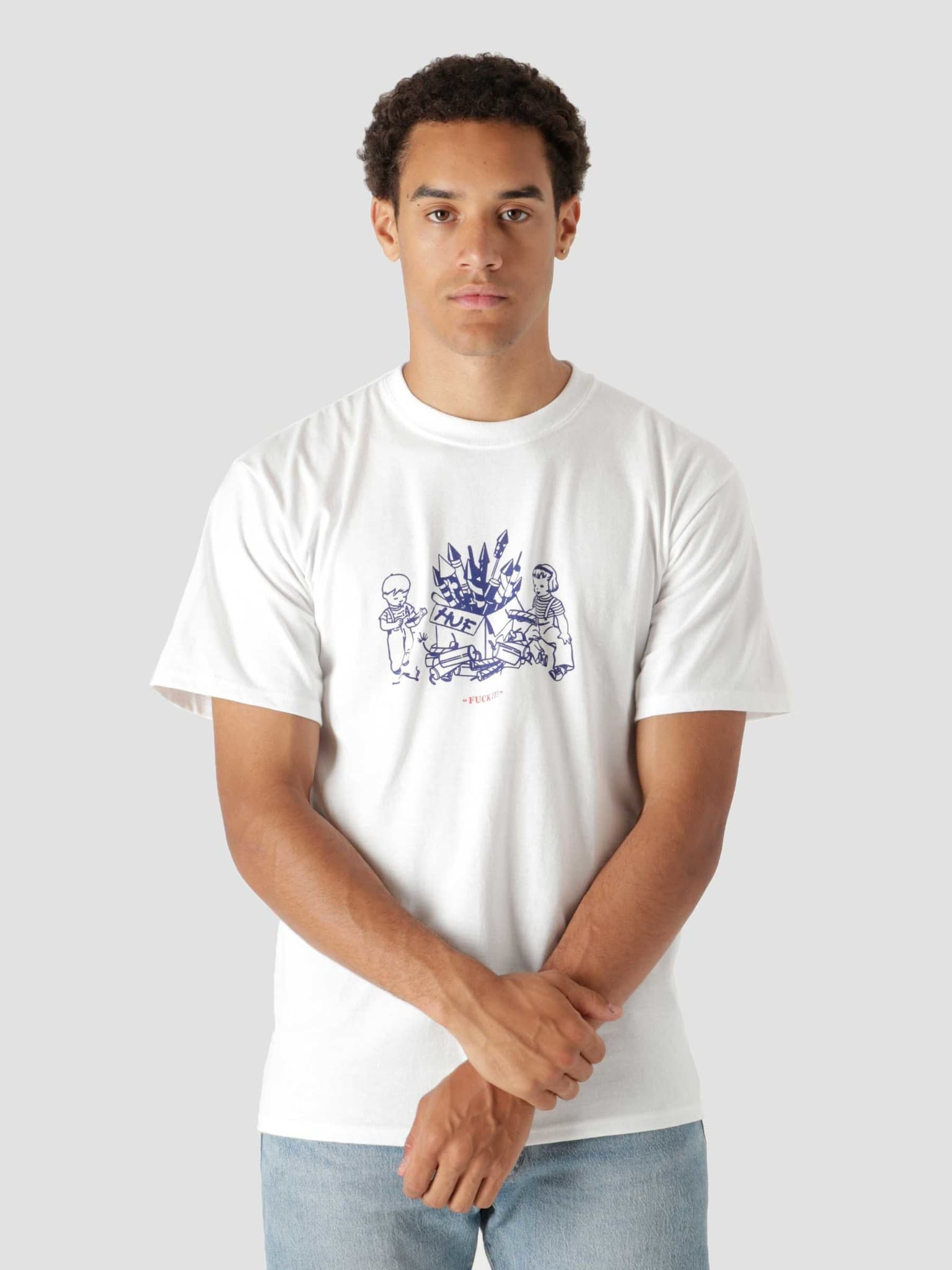 Safe And Sane Shortsleeve T-Shirt White TS01692