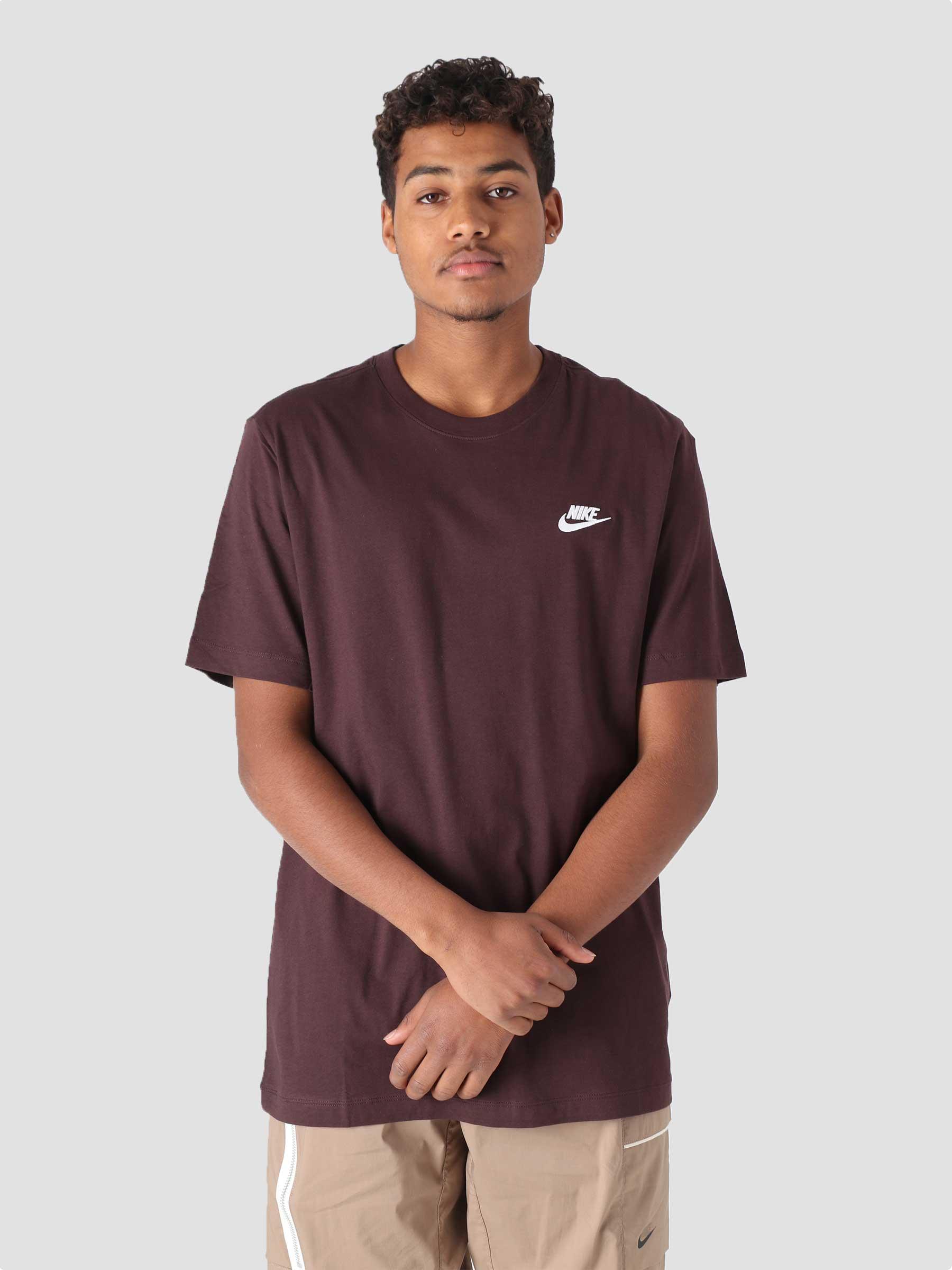 M NSW Club T-Shirt Brown Basalt White AR4997-203