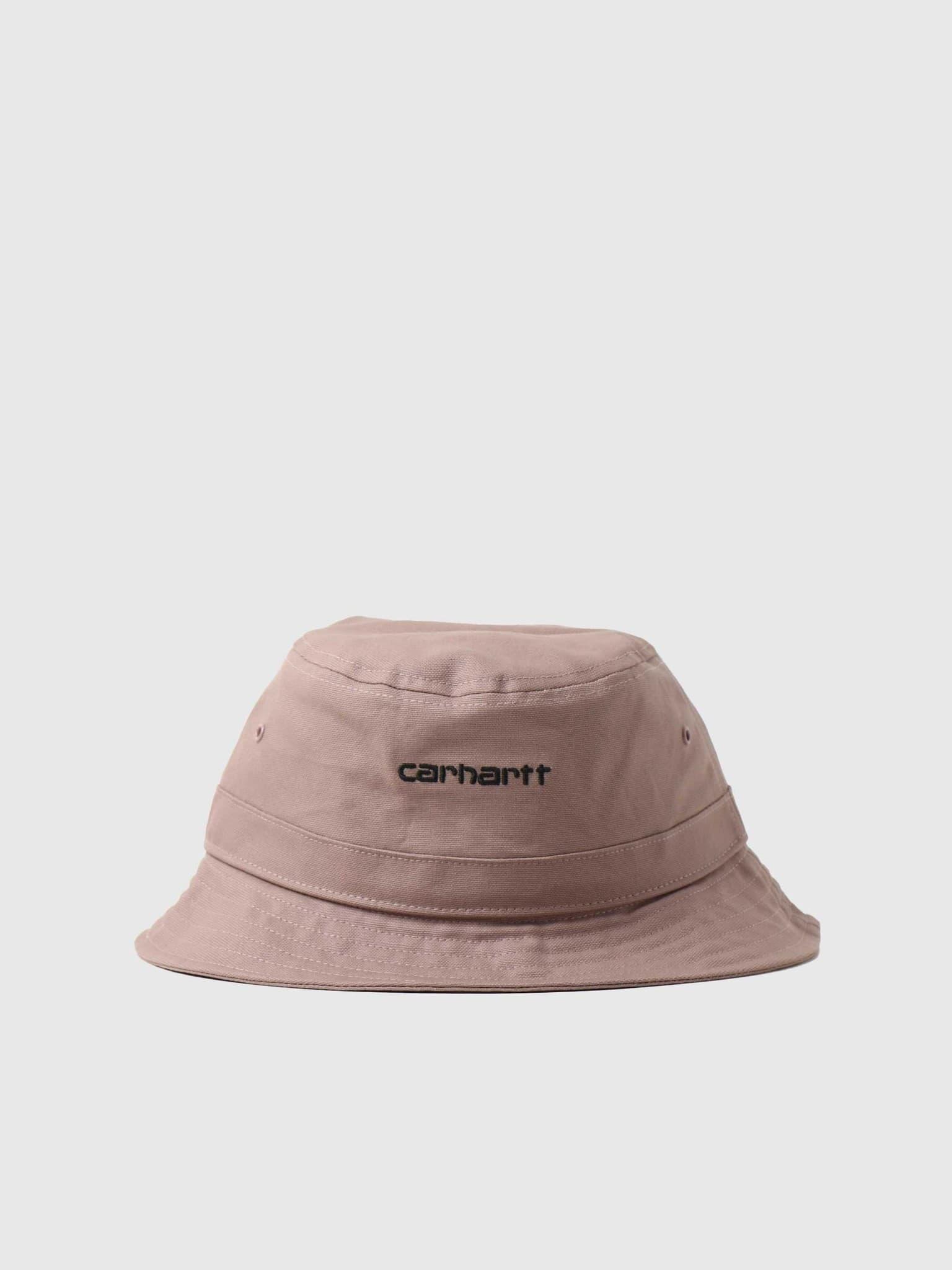 Script Bucket Hat Earthy Pink Black I029937