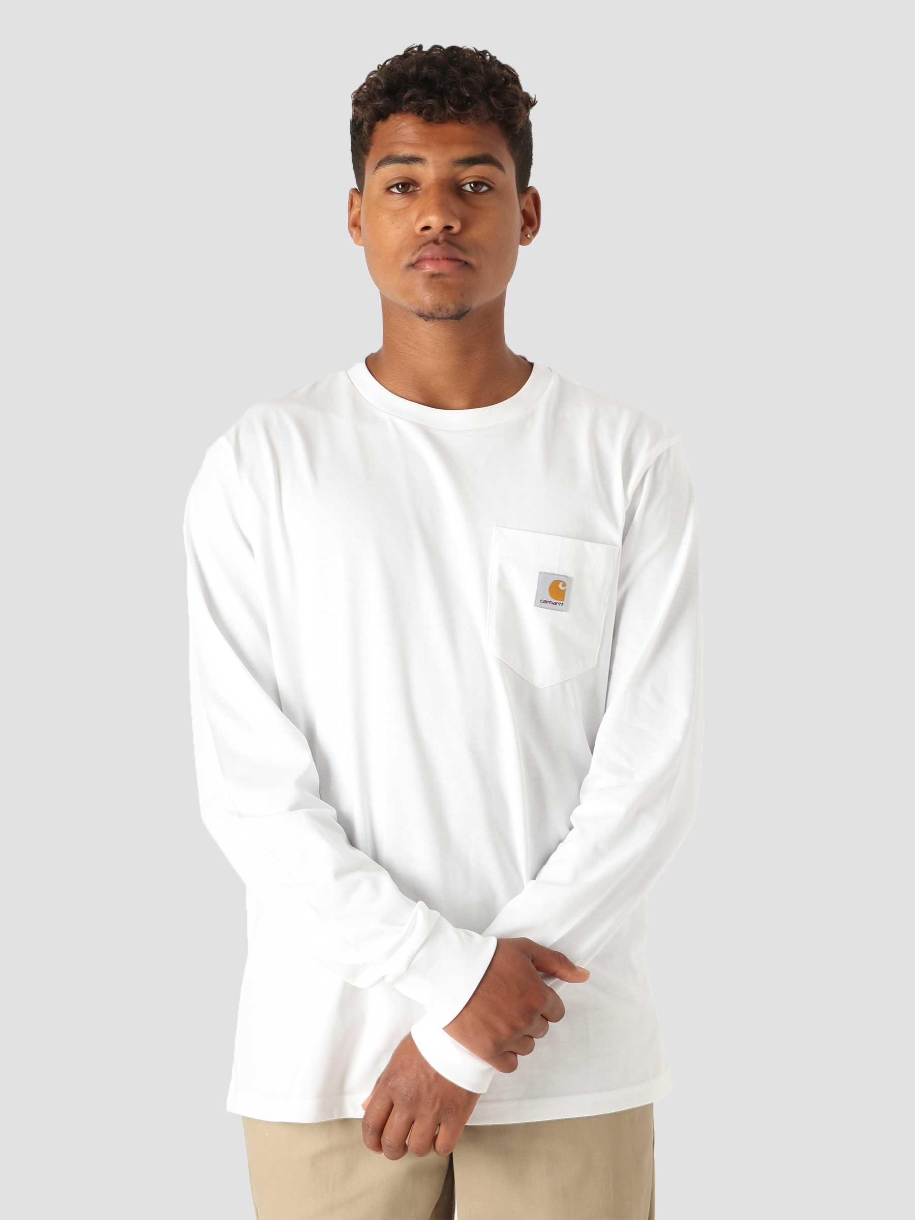 Longsleeve Pocket T-Shirt White I022094