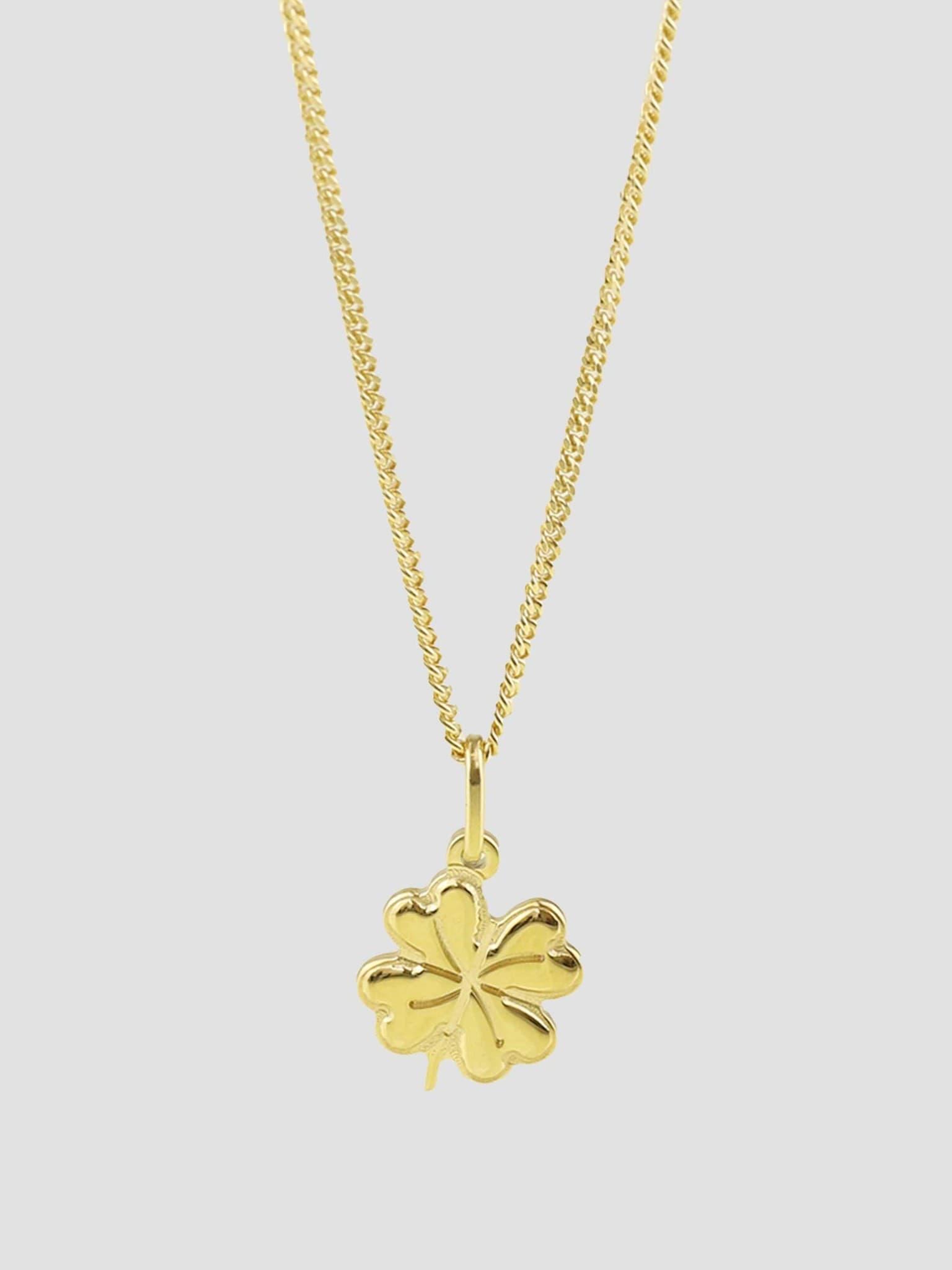 Lucky Clover Necklace Gold