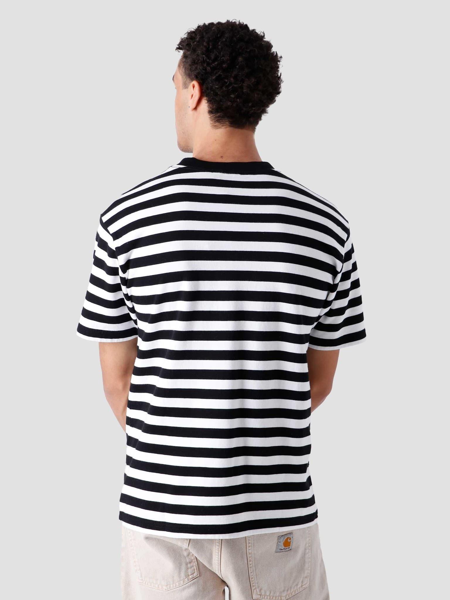Stripe Sans T-Shirt White Black